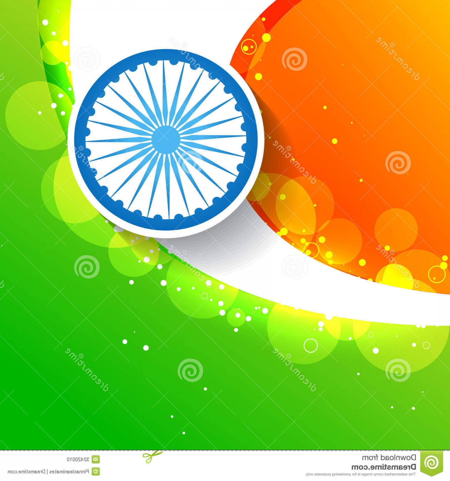 India Flag Vector: Stock Photo Stylish Creative Indian Flag Vector Design Image