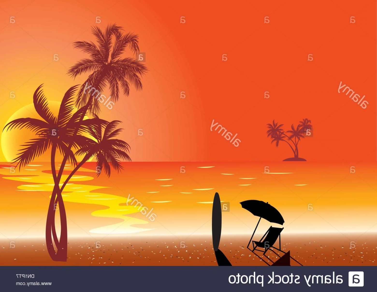 Surfer Beach Sunset Vector: Stock Photo Sunset At Beach Shore And Surf