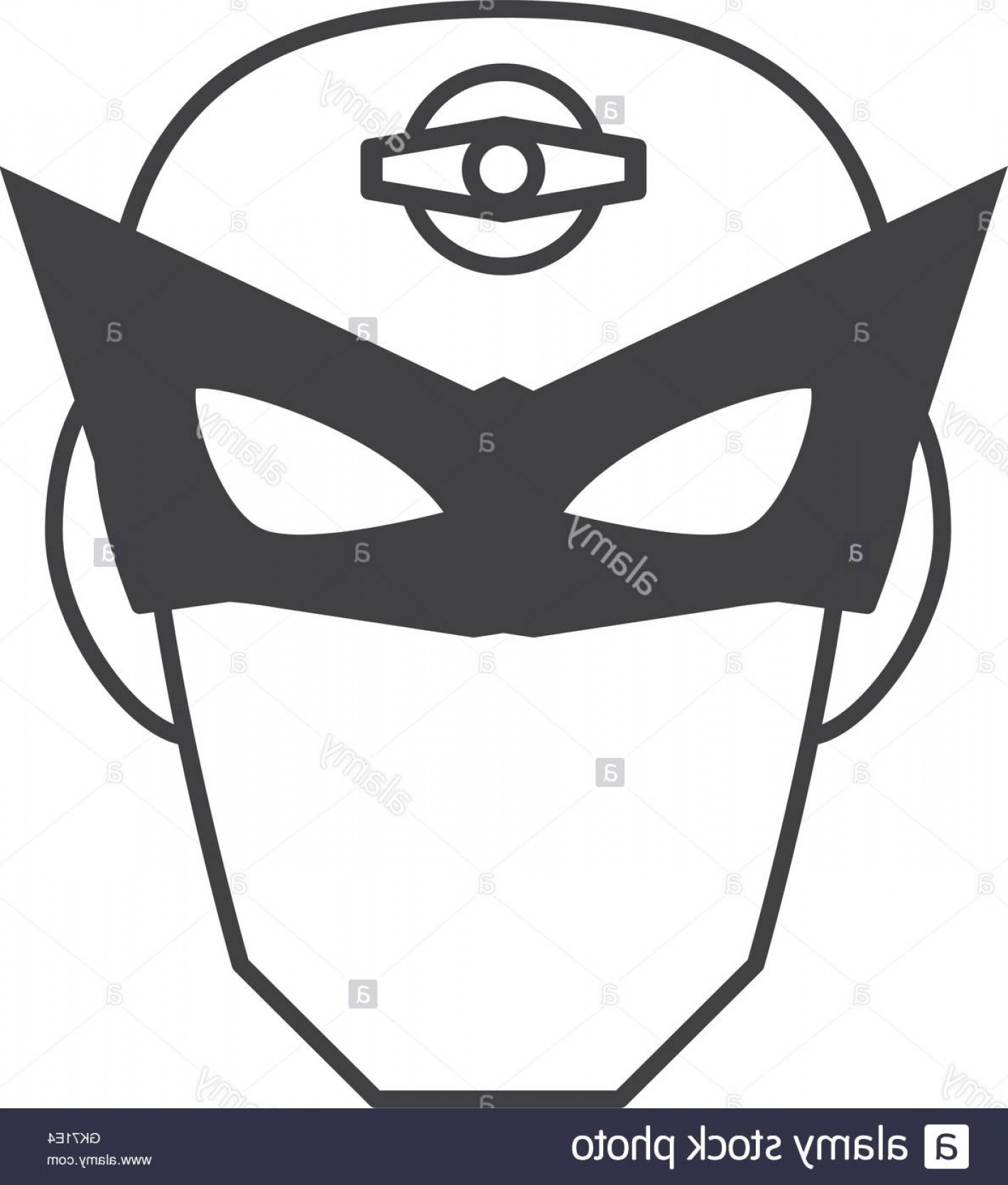 Superman Black And White Vector: Stock Photo Superhero Superman Mask Face Design