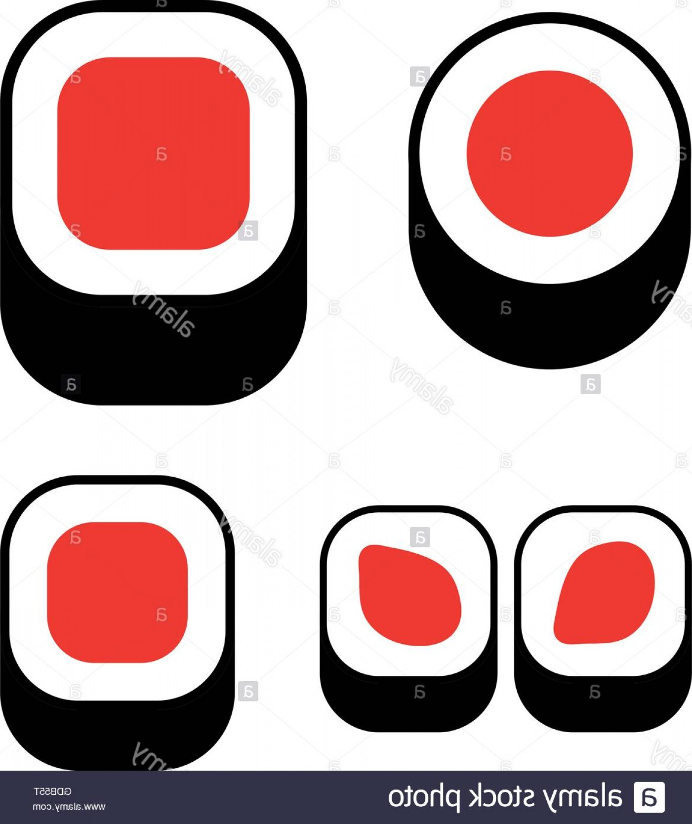 Sushi Vector Art: Stock Photo Sushi Icons Set Sushi Vector Isolated Logo Roll Logotype