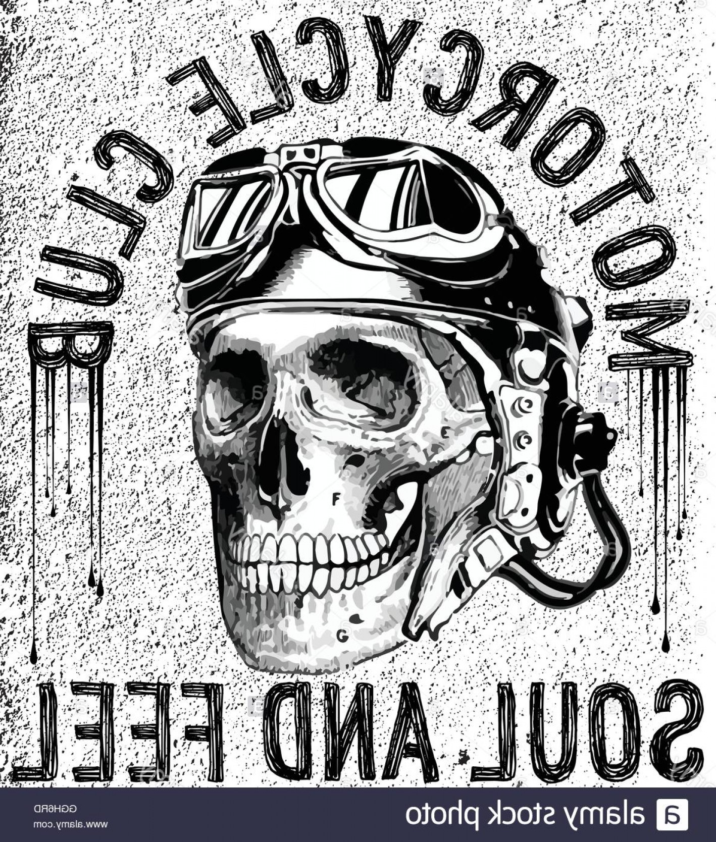 Skull Vector T-shirt Illustration: Stock Photo T Shirt Skull Motorcycle Graphic Design