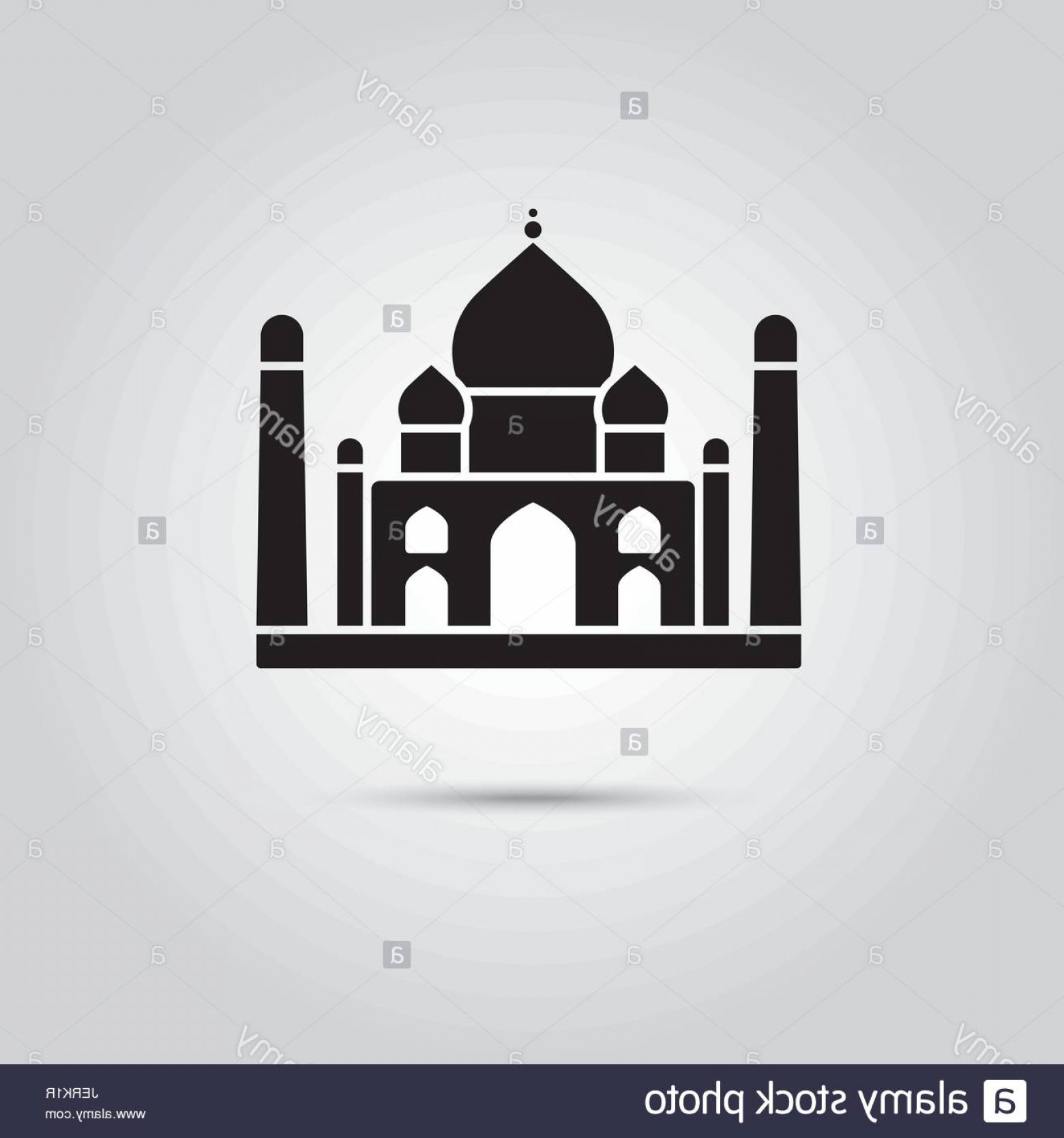 Taj Mahal Vector: Stock Photo Taj Mahal India Eps Vector Icon