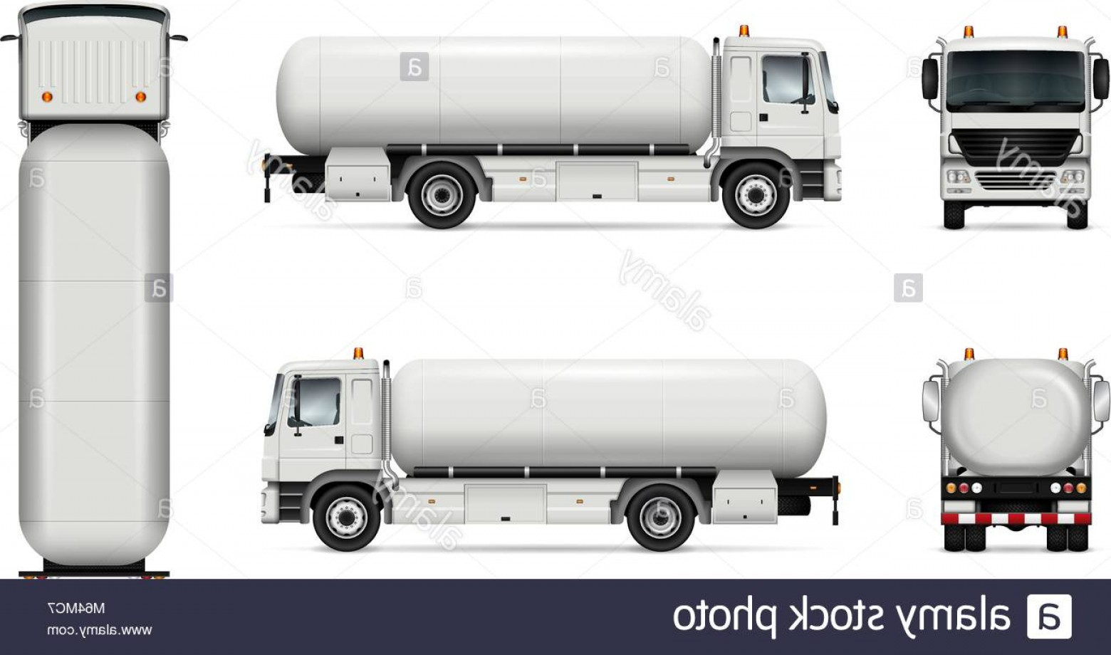 Tank Trucks Vector Art: Stock Photo Tank Truck Vector Mock Up Isolated Template Of Tanker Lorry On White