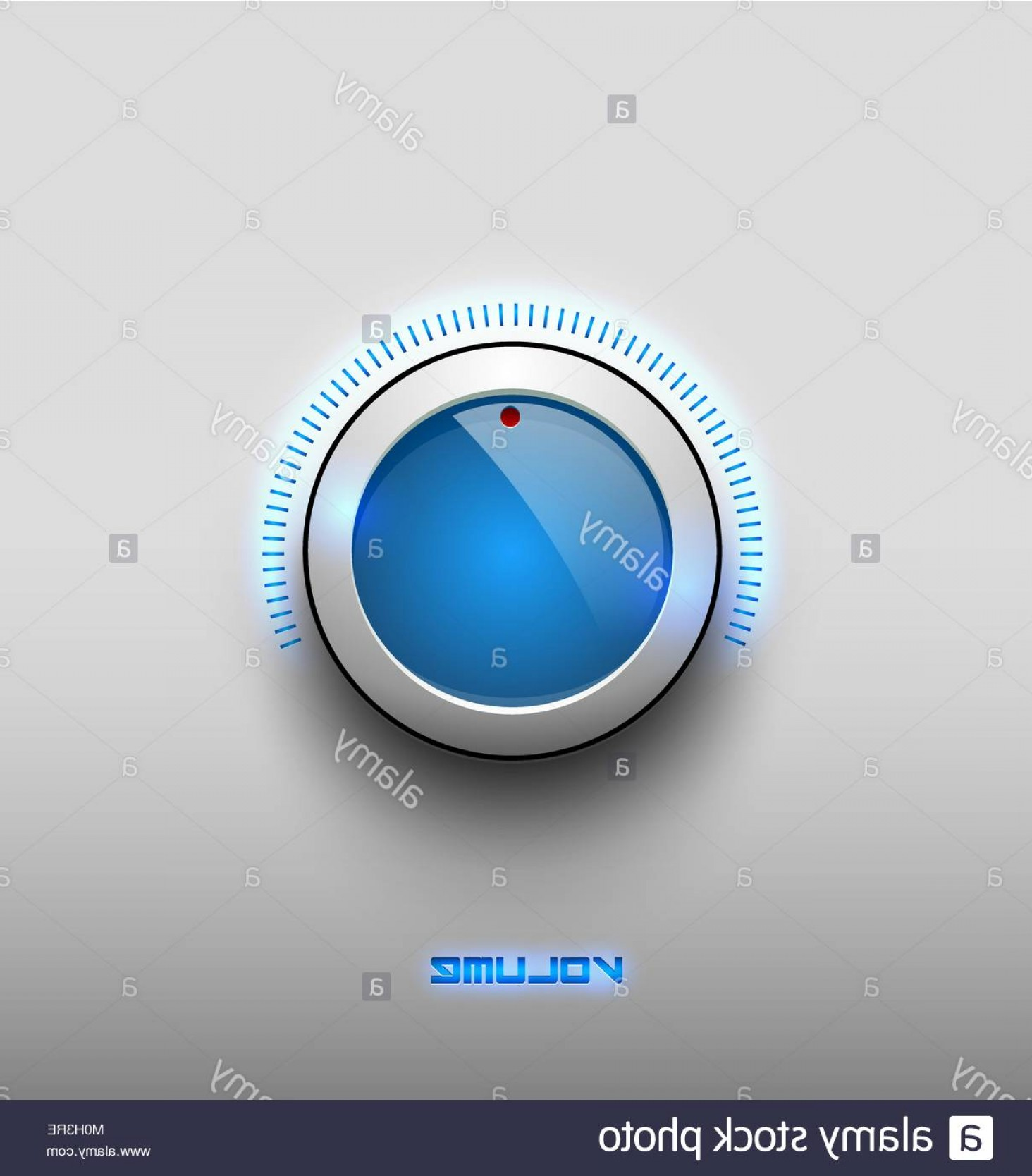 Volume Button Vector: Stock Photo Technology Music Blue Glow Glossy Button Icon Volume Settings Sound