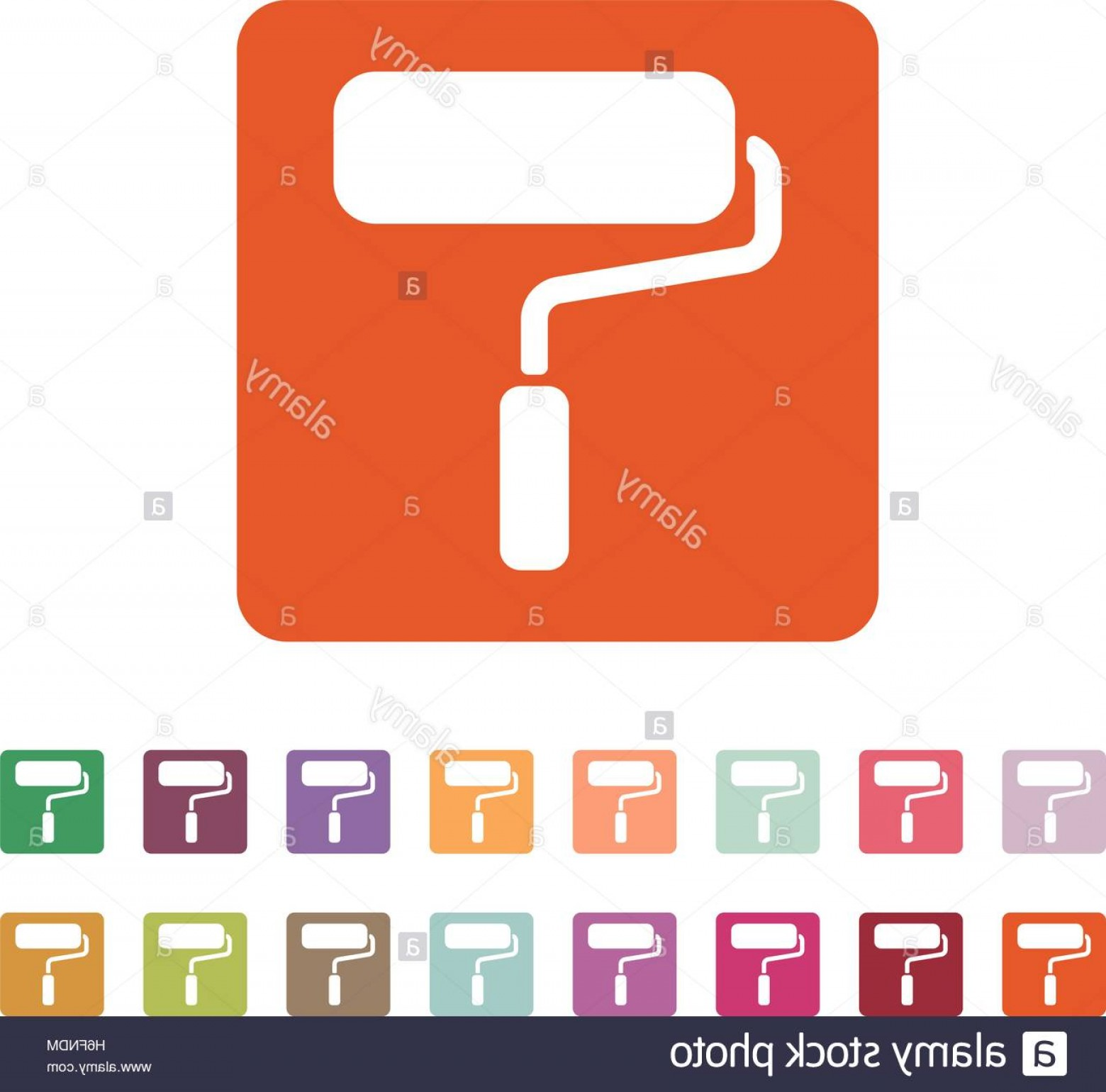 Powder Coating Vector: Stock Photo The Paint Roller Icon Decorating And Painting Repair Symbol Flat Vector