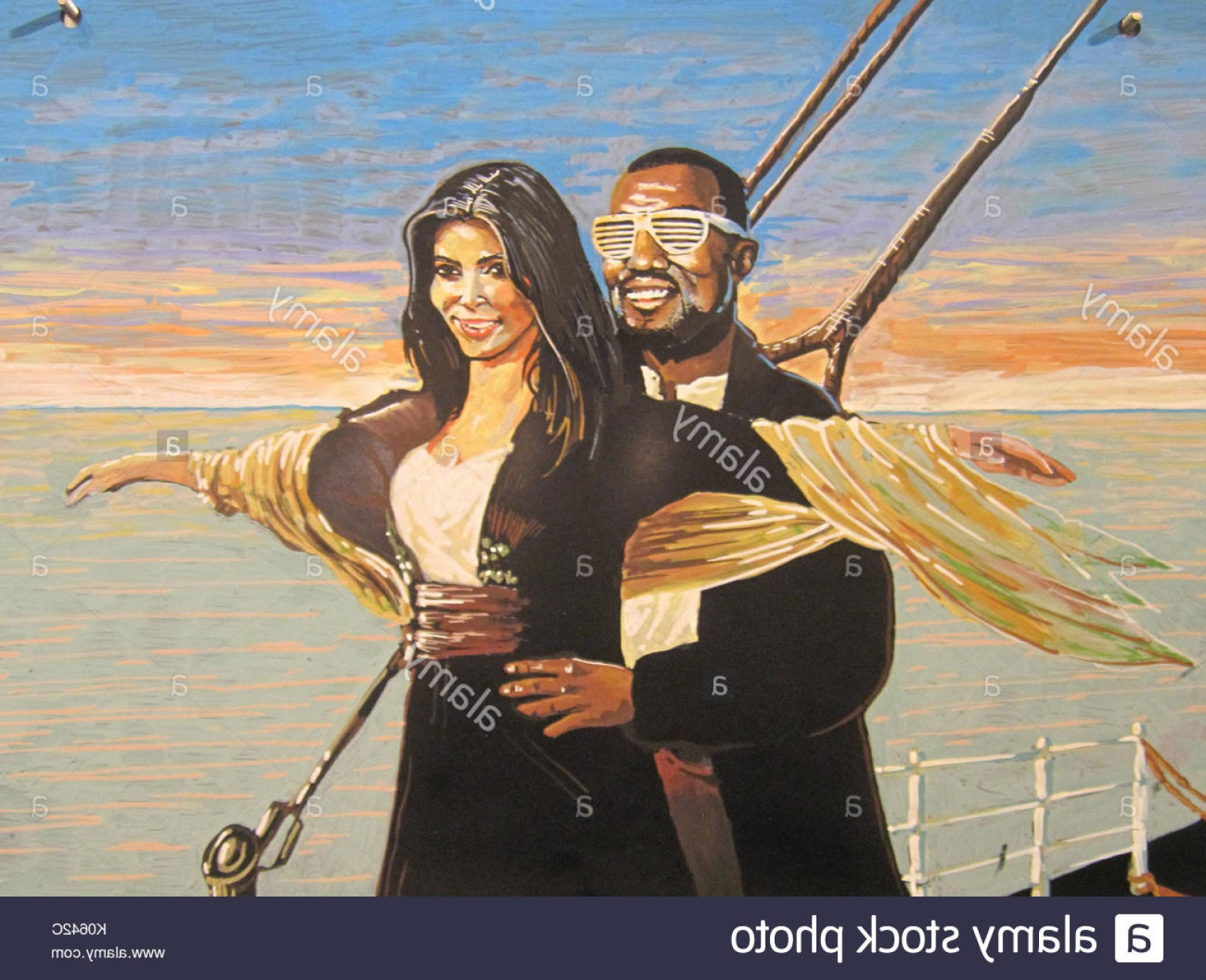 Kanye West Vector Paintig: Stock Photo Titanic Painting Hanging In Whole Foods But Will Their Hearts Go On