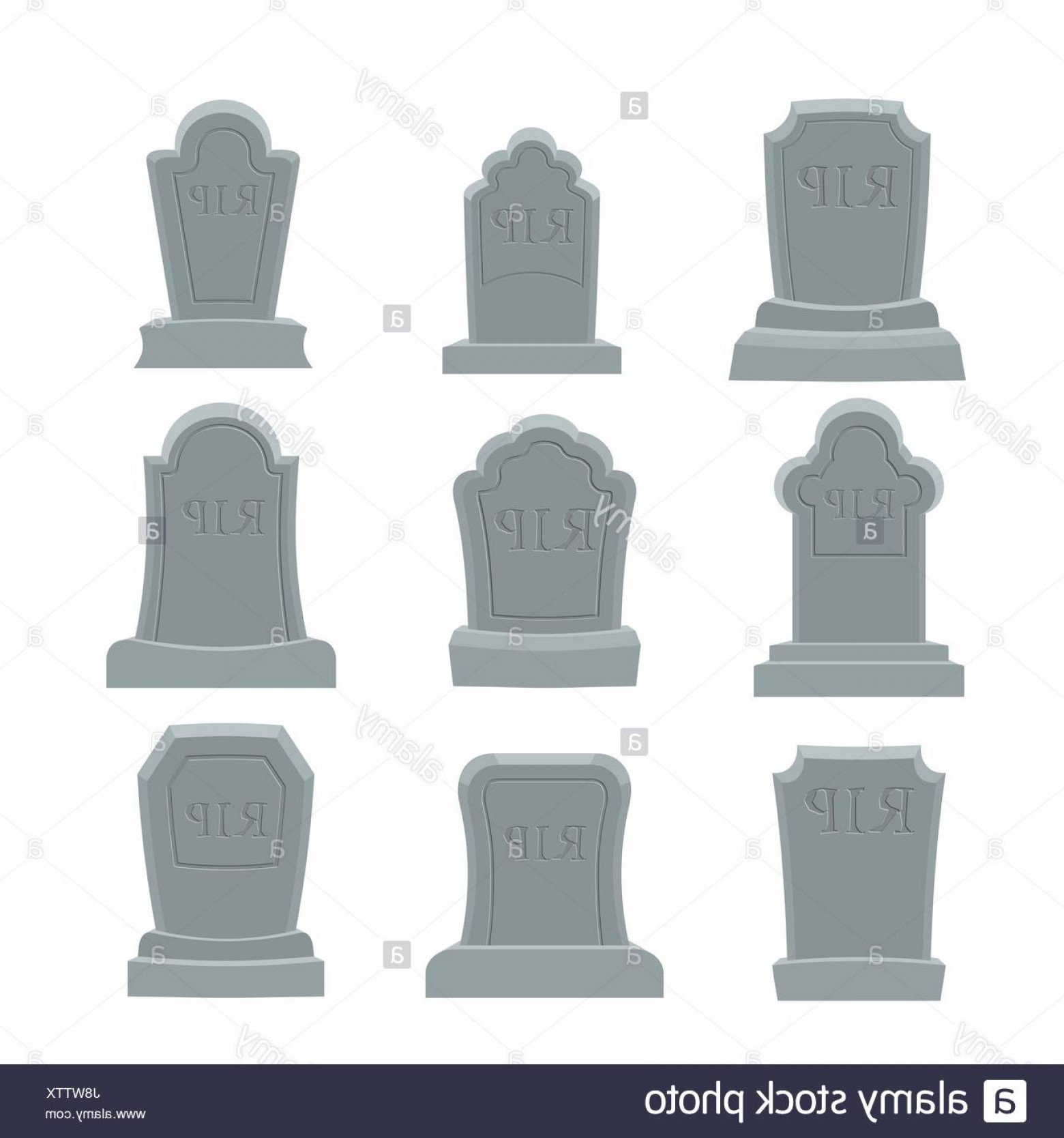 Gravestone Black And Whit Vector JPEG: Stock Photo Tomb Set Ancient Rip Collection Of Gravestones Grave On White Background