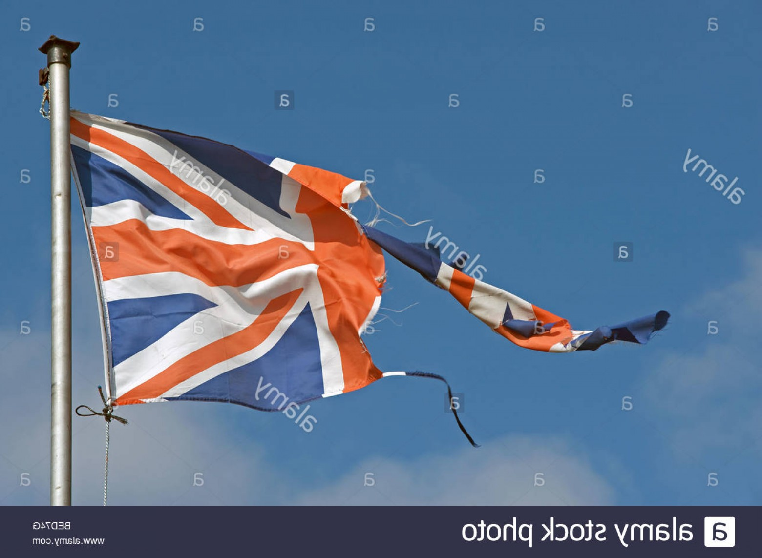 Union Jack Flag Tattered Vector: Stock Photo Torn And Ripped Union Jack Flag