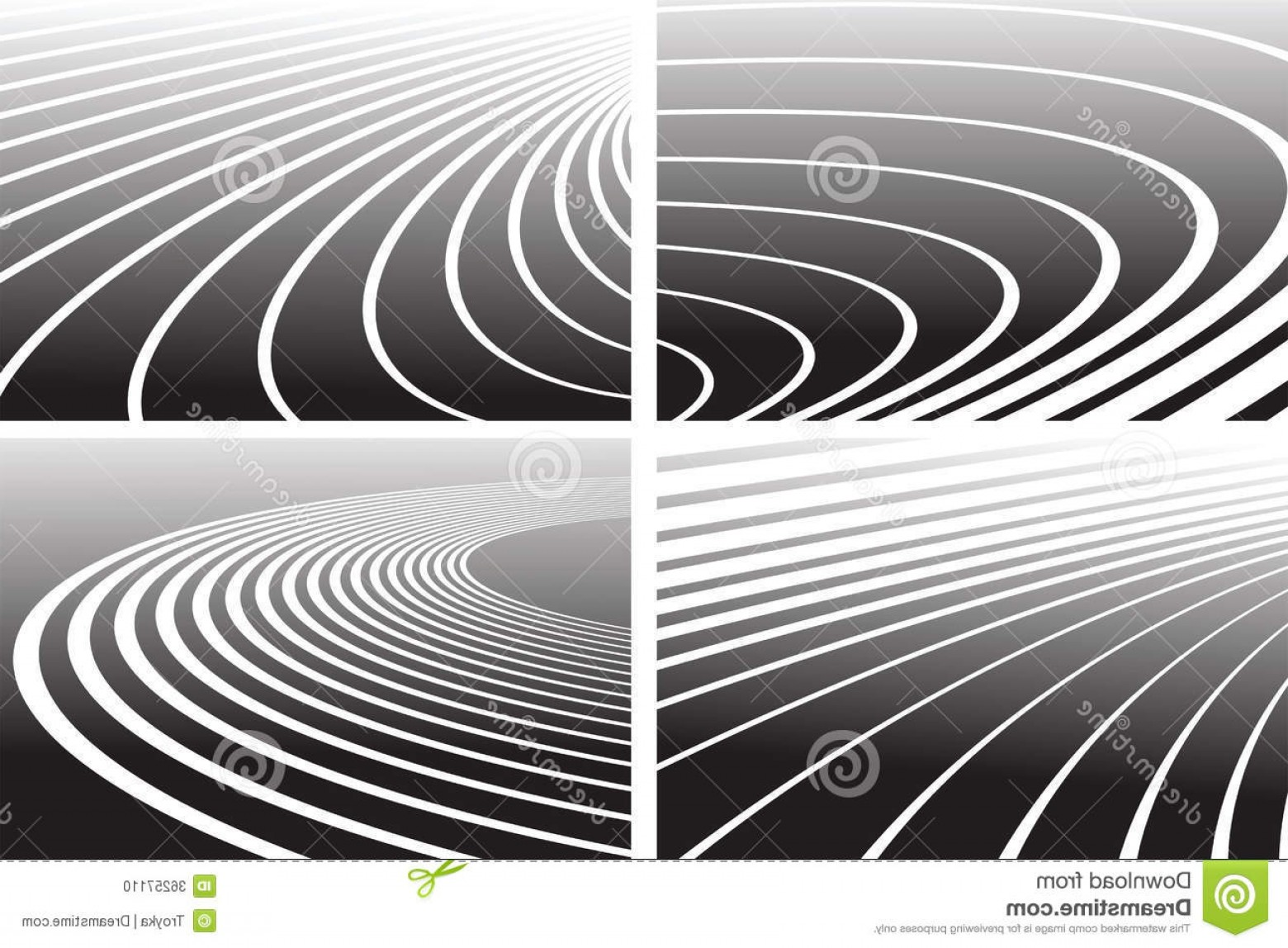 Track Vector: Stock Photo Track Lines Abstract Backgrounds Set Vector Art Image