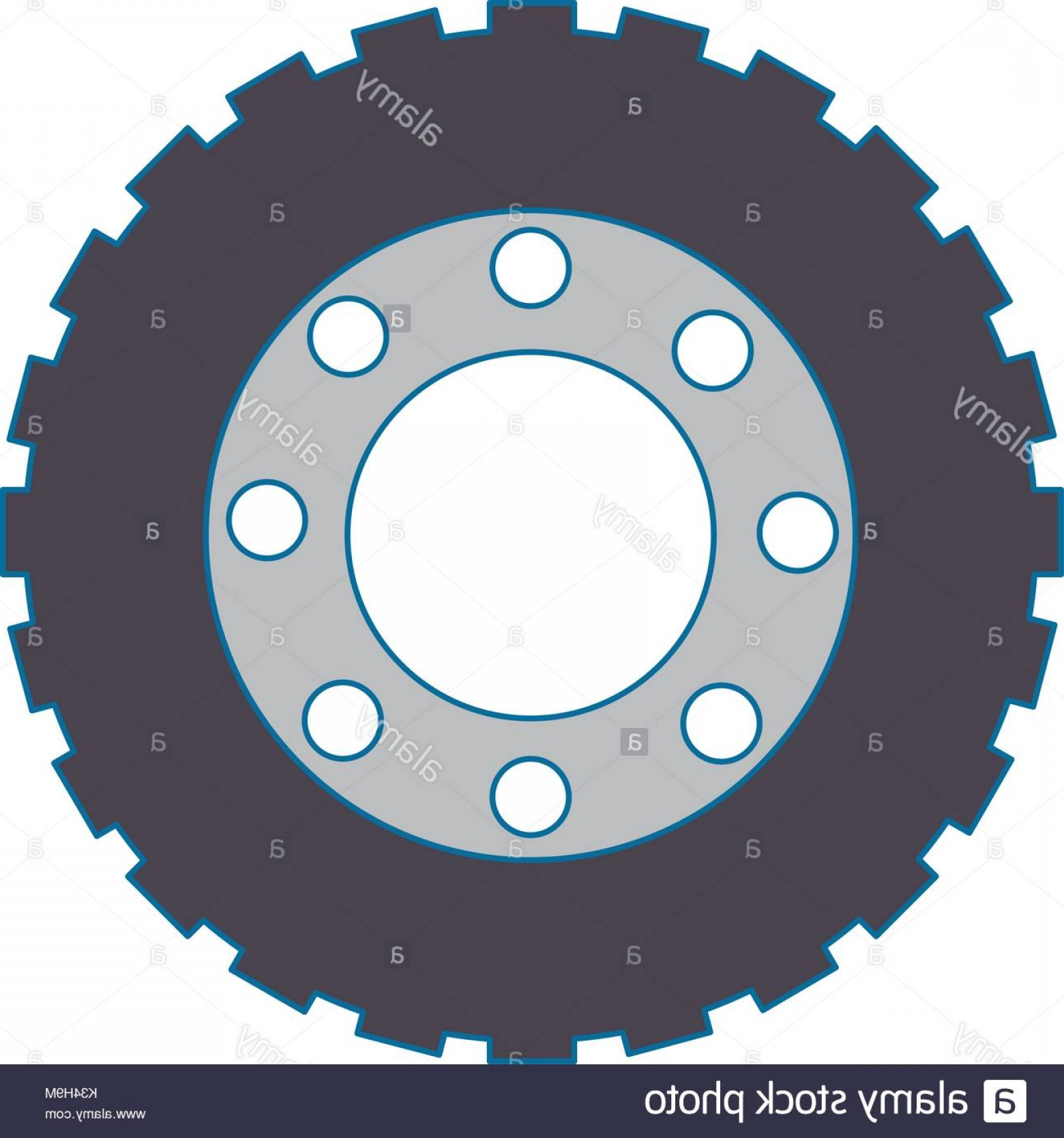 Tire Icon Vector: Stock Photo Tractor Tire Isolated Icon Vector Illustration Design