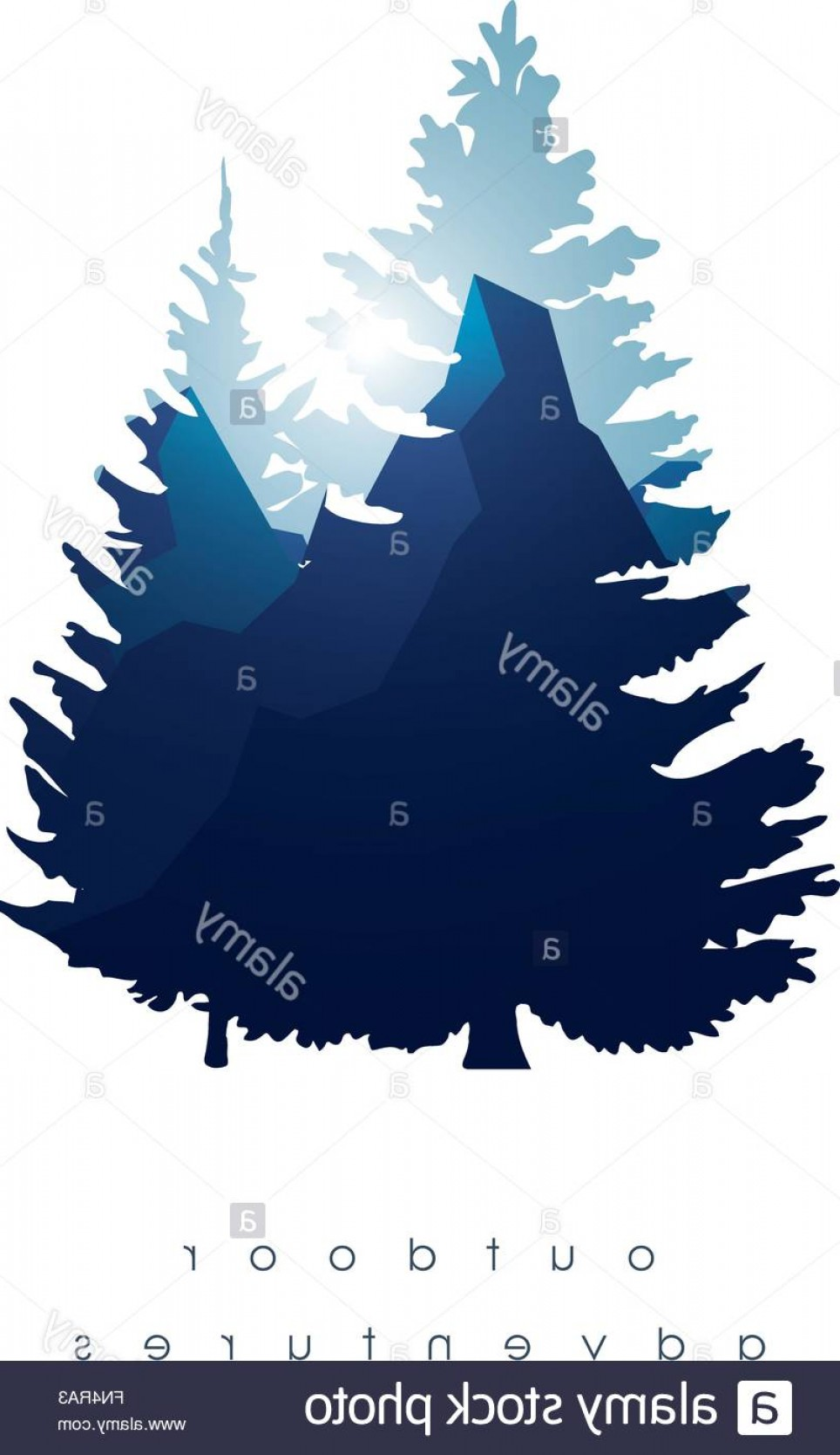 Vector Art Mountains Trees Colorado: Stock Photo Trees Mountains In Double Exposure Style Vector Background Symbol