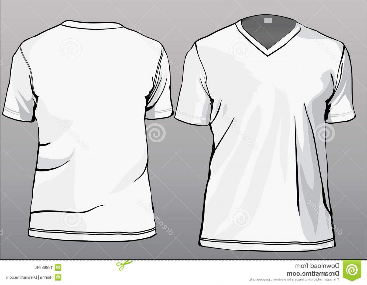 V-Neck Template Vector: Stock Photo Tshirt Template V Neck Image
