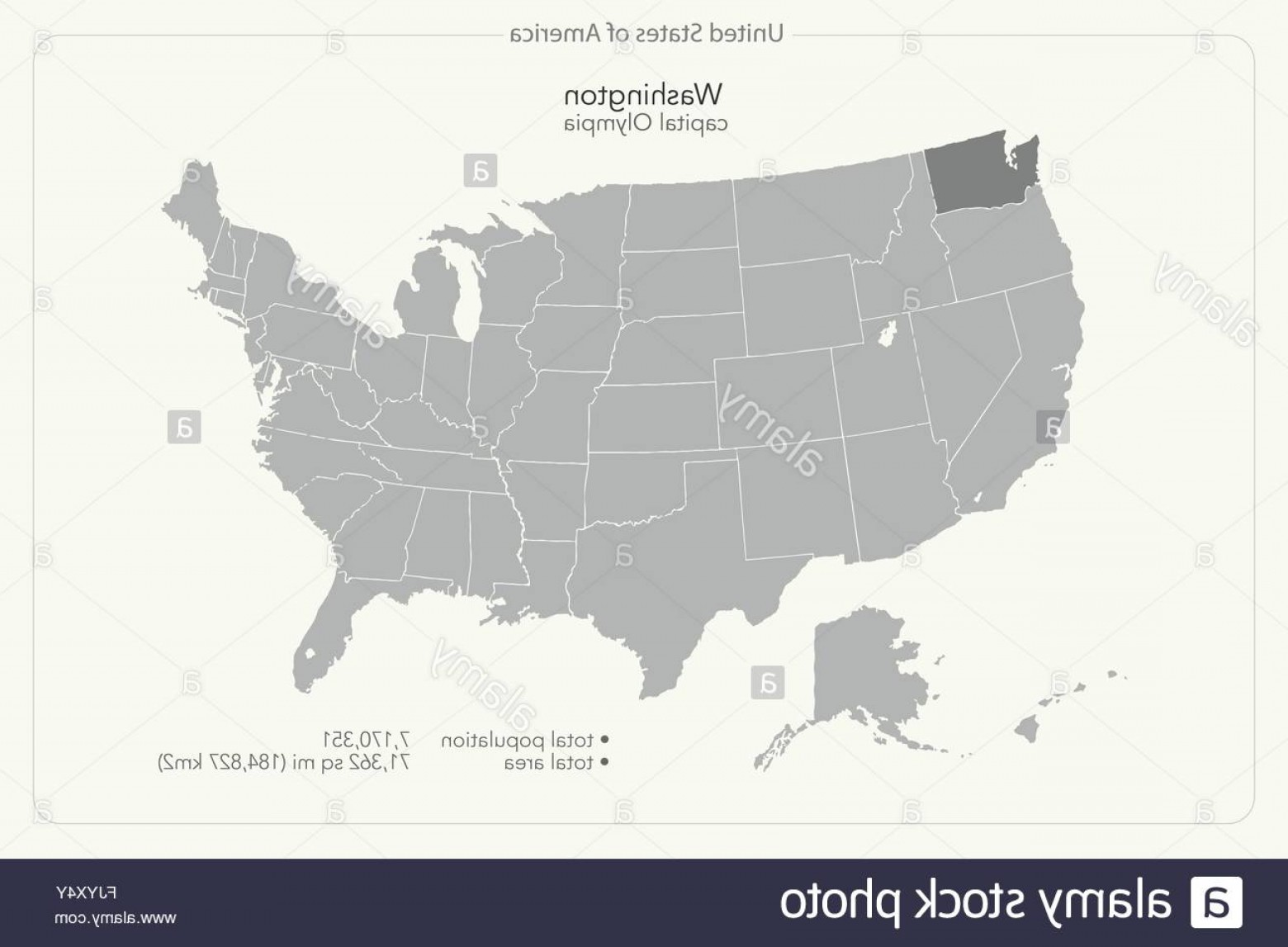 Washington State Map Vector: Stock Photo United States Of America Isolated Map And Washington State Territory
