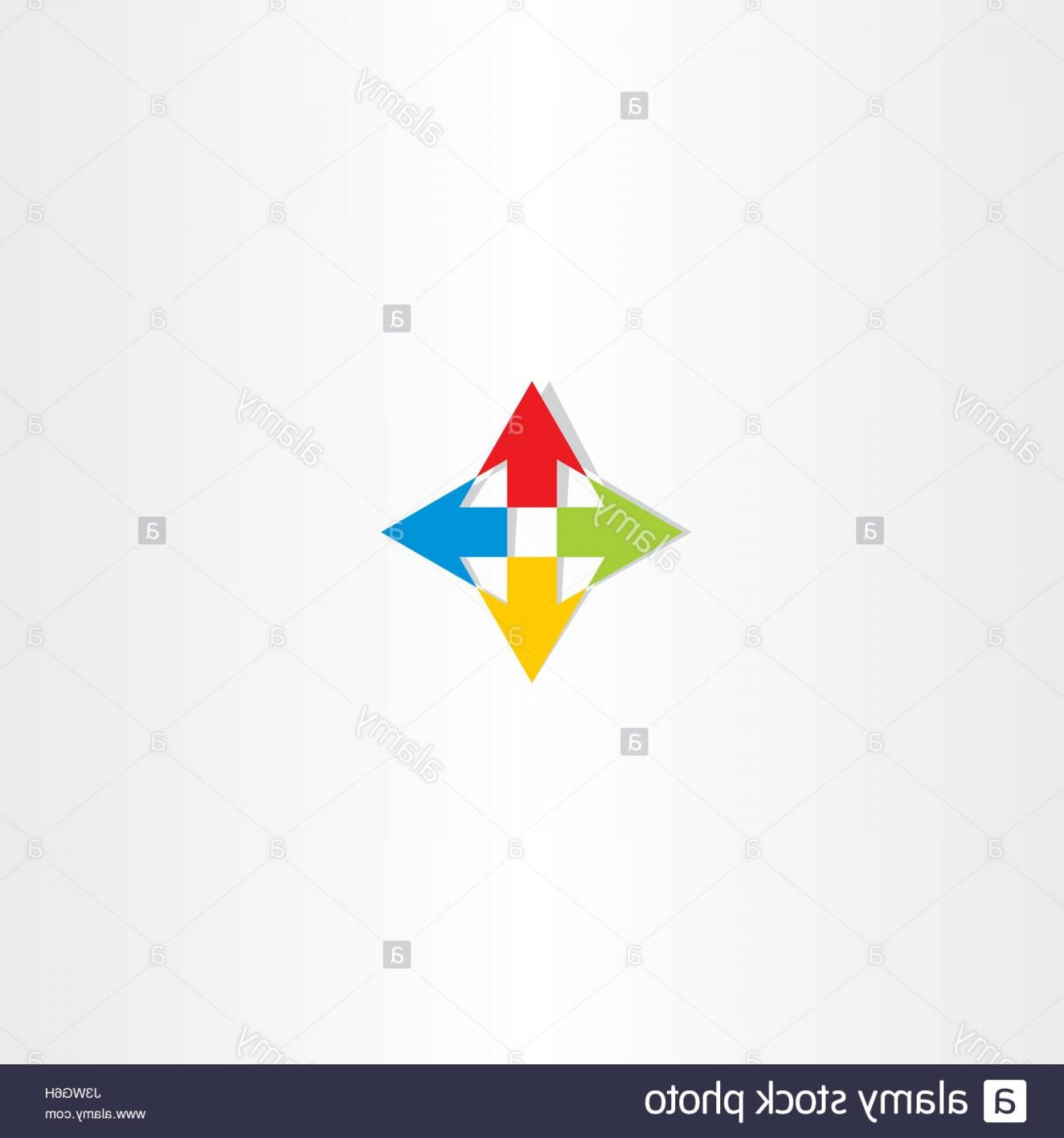 Up And Right Arrows Vector: Stock Photo Up Down Left Right Arrow Icon Sign Logo