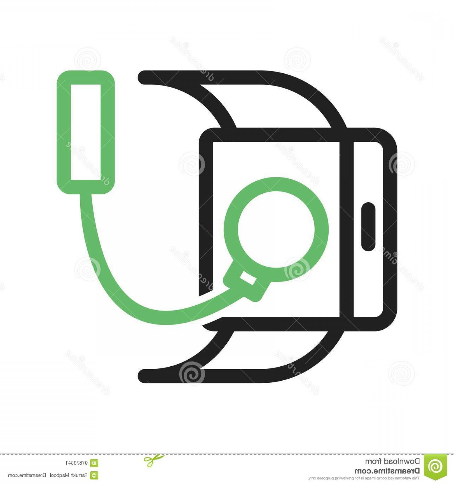 Vector Smart Charger: Stock Photo Usb Charger Cable Icon Vector Image Can Also Be Used Smart Watch Suitable Mobile Apps Web Apps Print Media Image