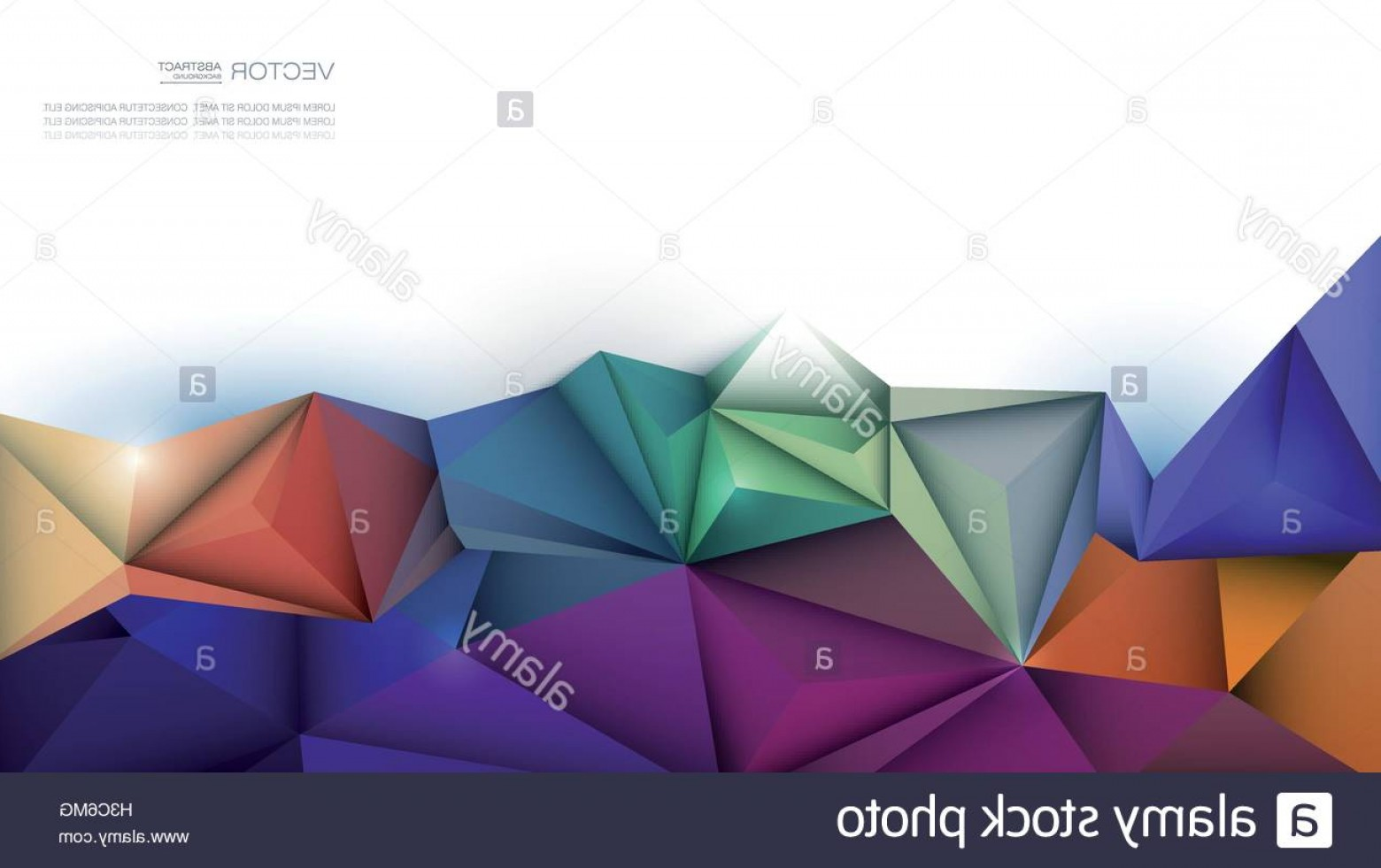 Vector Abstract 3D: Stock Photo Vector Abstract D Geometric Polygon Polygonal Triangle Pattern Shape