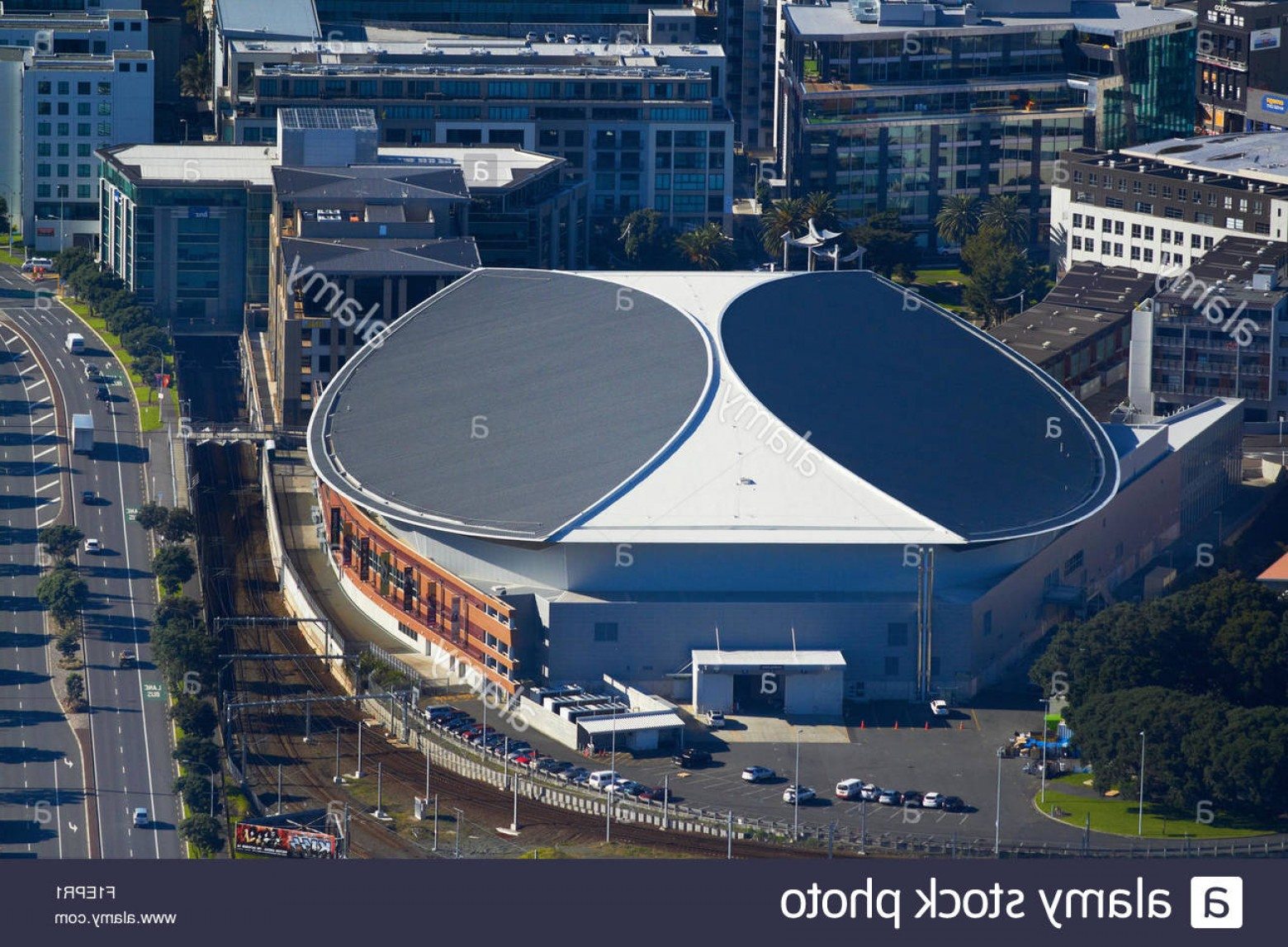 Vector Arena Auckland Events: Stock Photo Vector Arena Events Centre Auckland North Island New Zealand Aerial