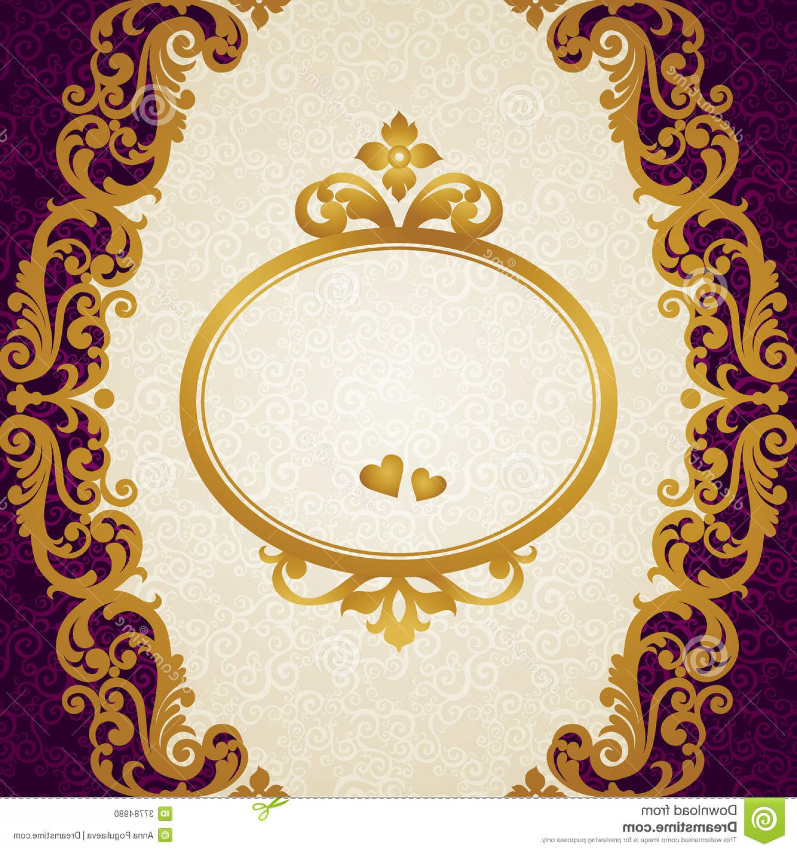 Victorian Style Frame Vector: Stock Photo Vector Baroque Endless Border Victorian Style Element Design Place Your Text Can Be Used Decorating Wedding Image