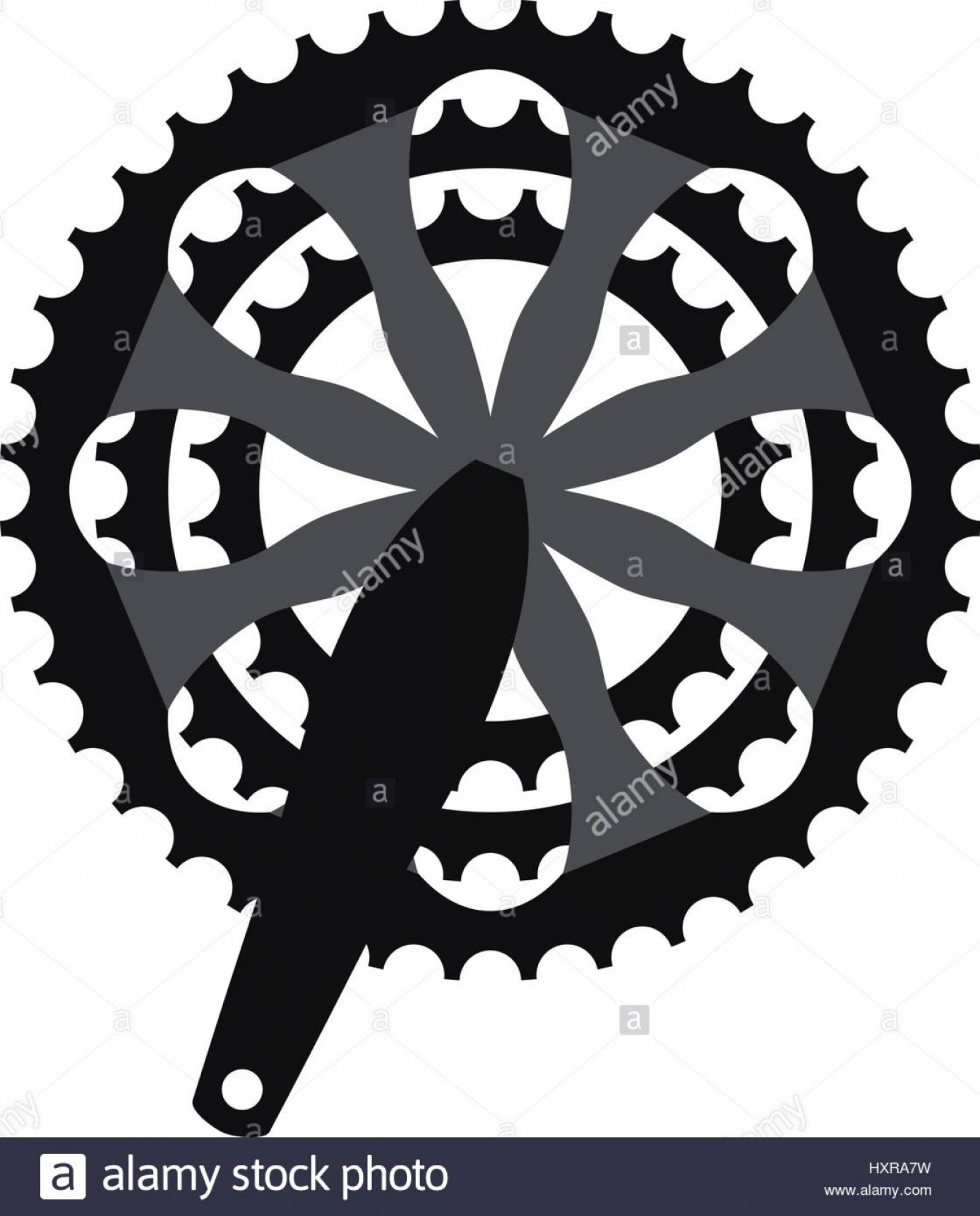 Bicycle Crank Vector Of Artwork: Stock Photo Vector Bicycle Cogwheel Crankset Sprocket Bike Crankset Cassette Symbol