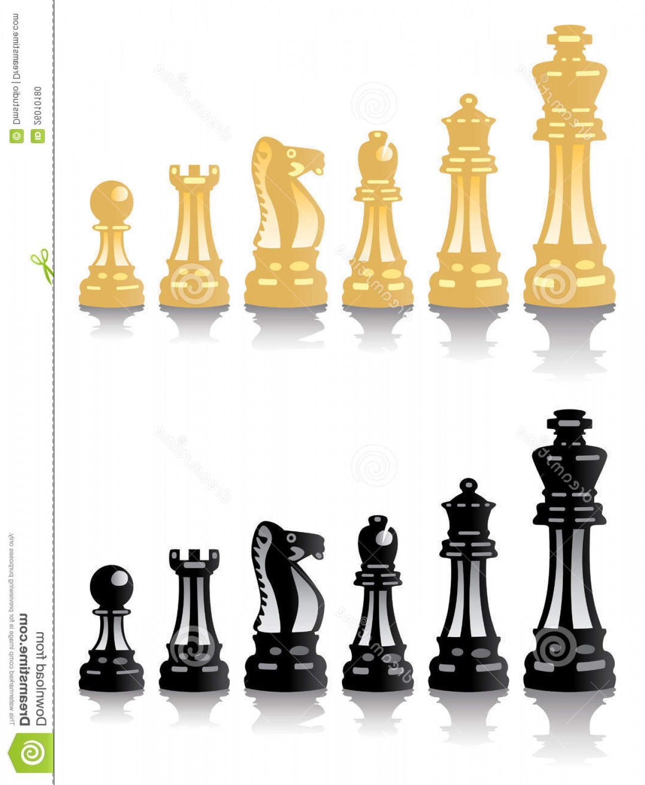 Vector Chess Board: Stock Photo Vector Chess Pieces Image