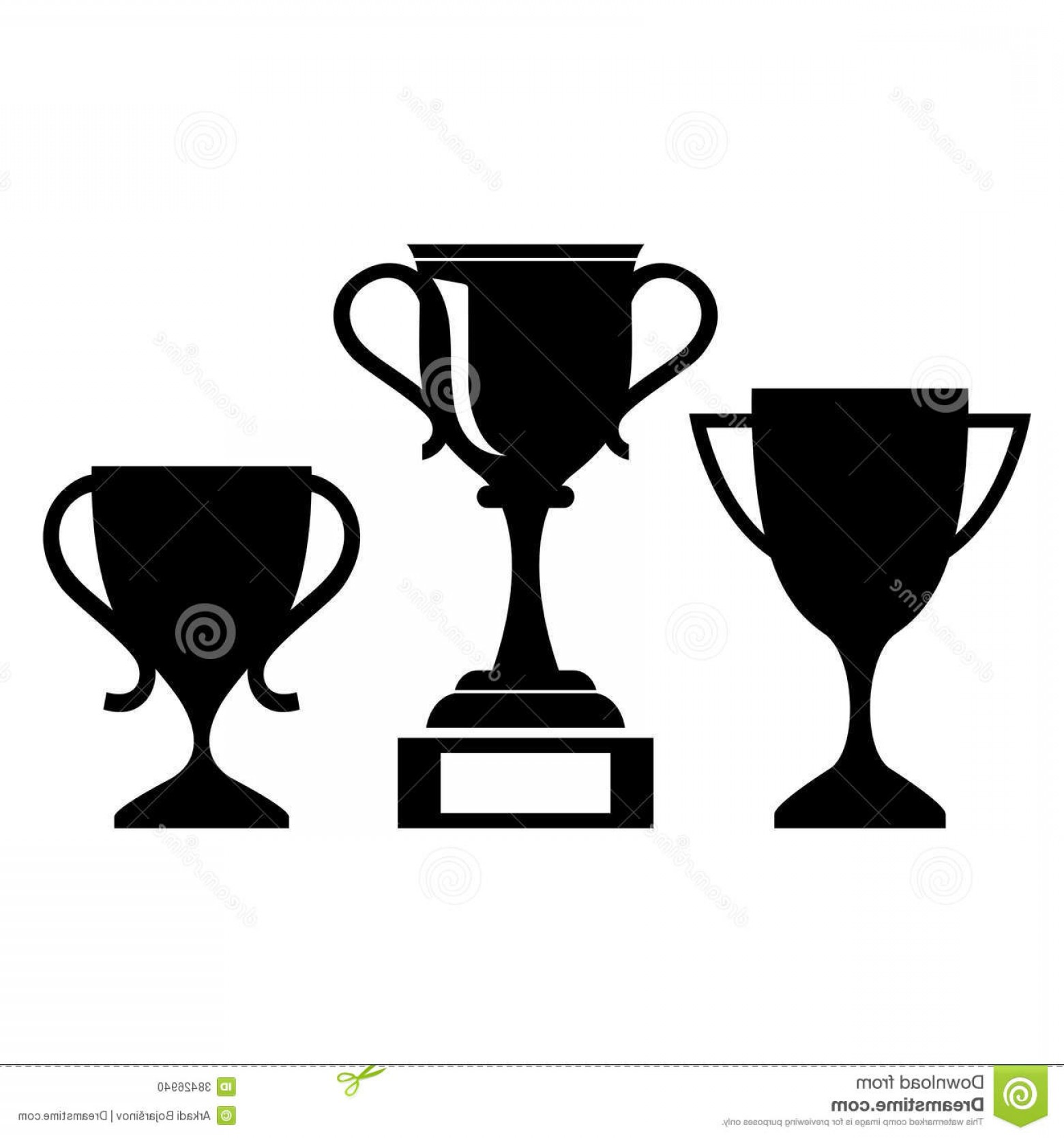 Ice Champions Cup Vector: Stock Photo Vector Cup Icon Icons Isolated White Image