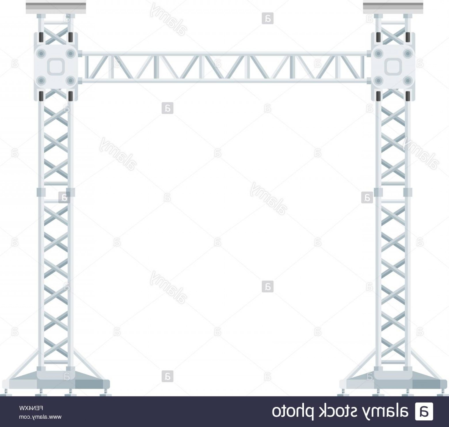 Aluminum Truss Design Vector: Stock Photo Vector Flat Design Stage Sound Lighting Aluminum Truss Tower Lift