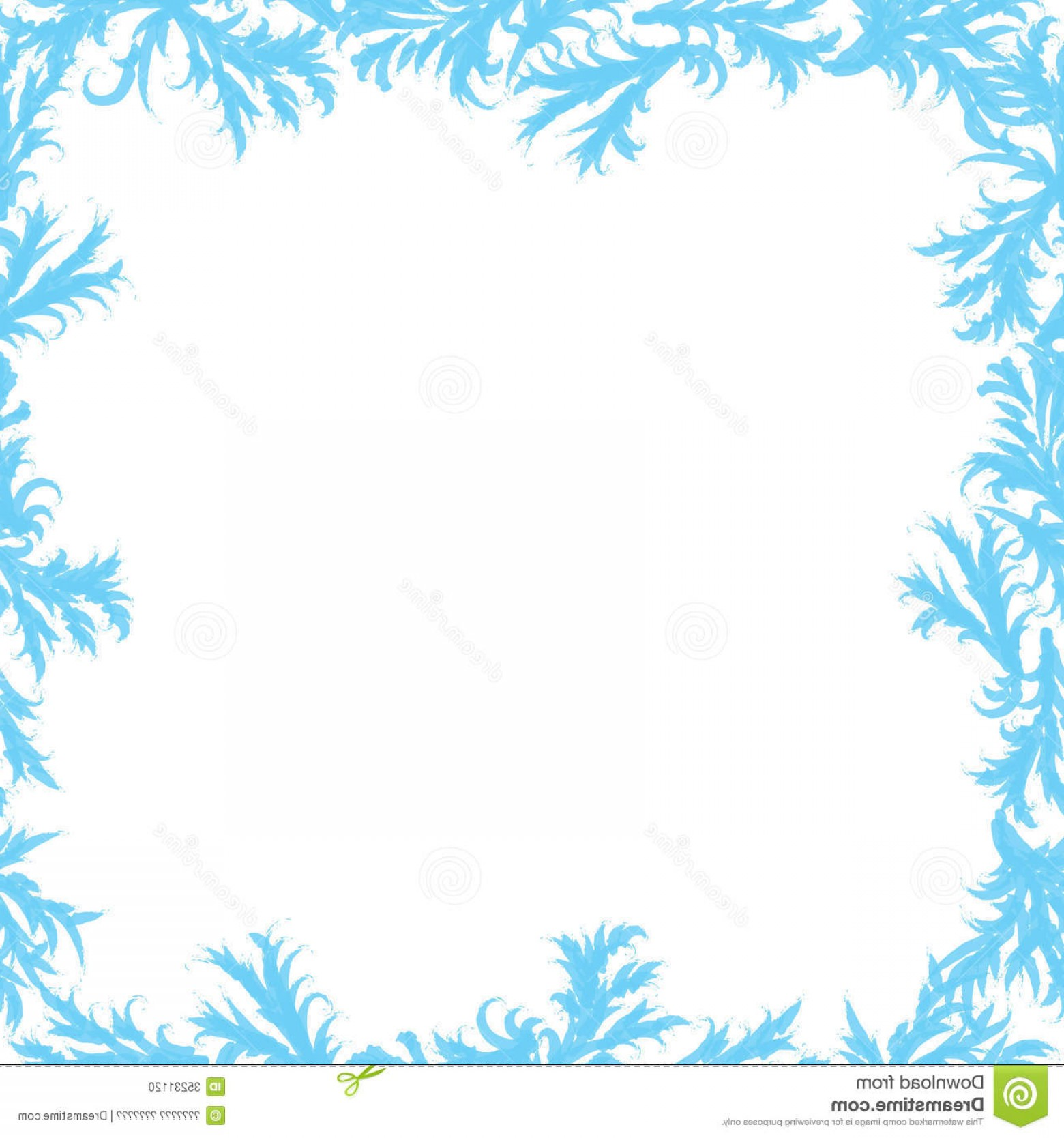 Frost Border Vector: Stock Photo Vector Frame Frost Patterns Glass Frosty Image