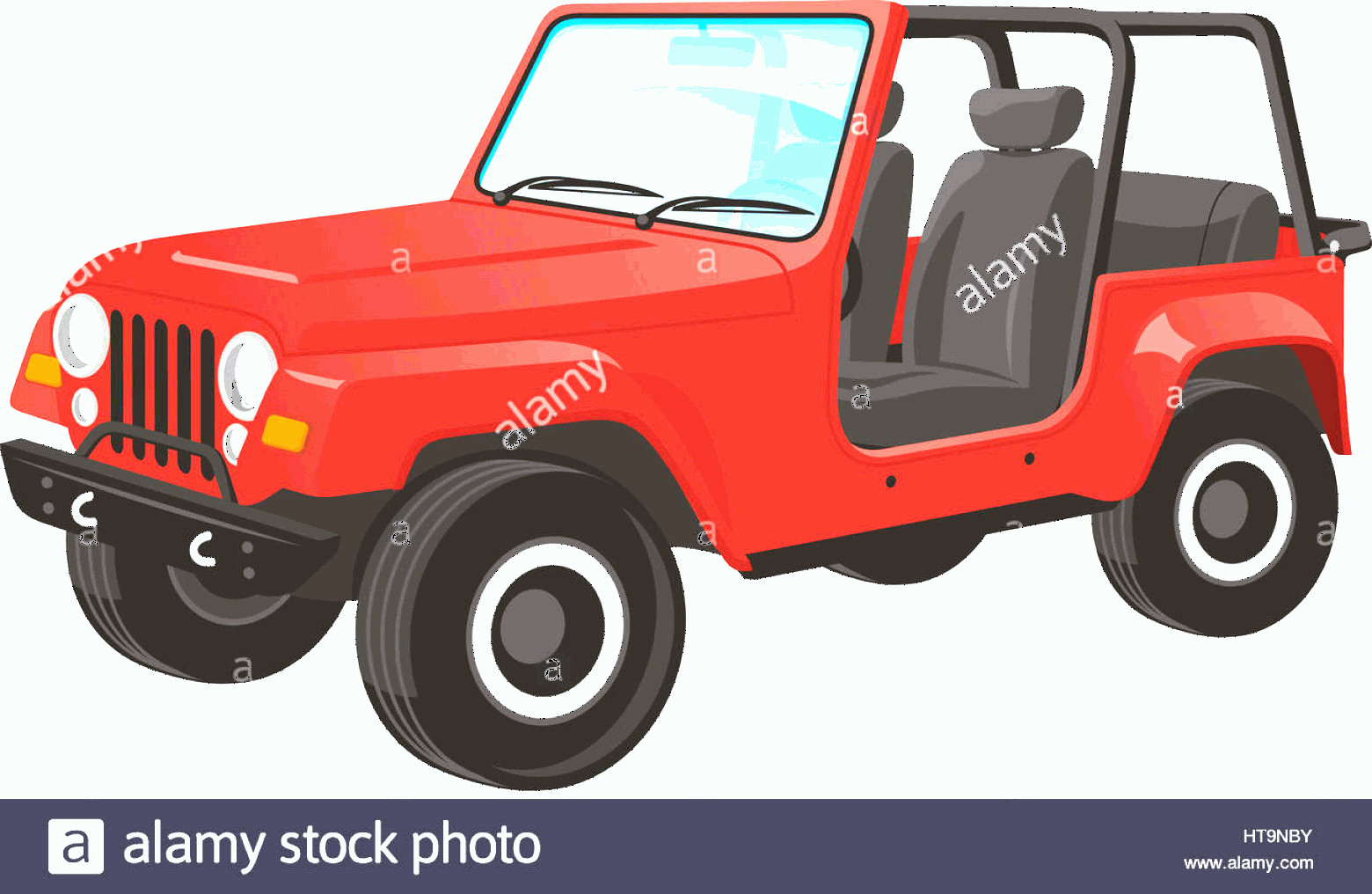 Vector Jeep JK: Stock Photo Vector Illustration Of A Jeep Wrangler Saved In Layers For Easy Editing