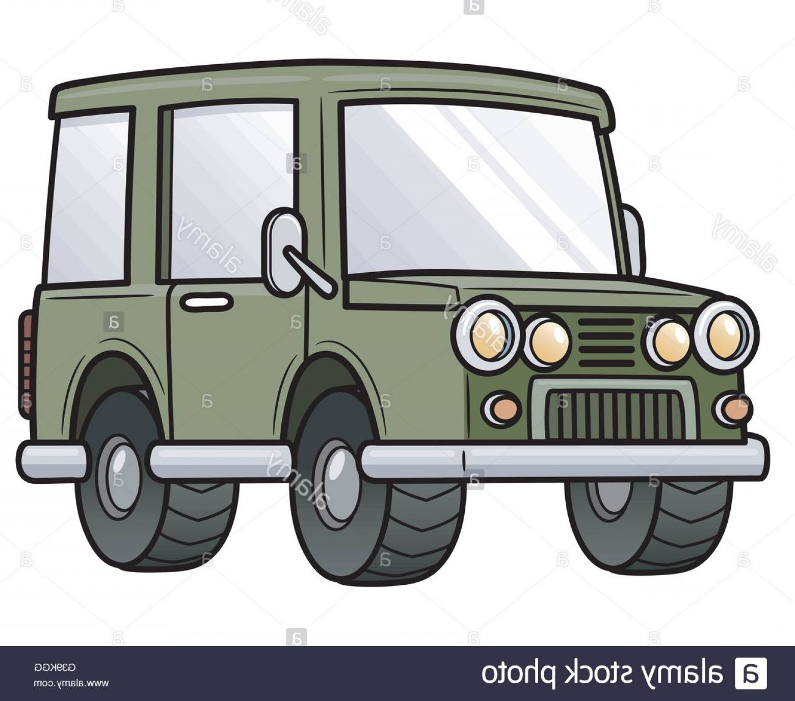 Jeep Tire Vector: Stock Photo Vector Illustration Of Cartoon Jeep