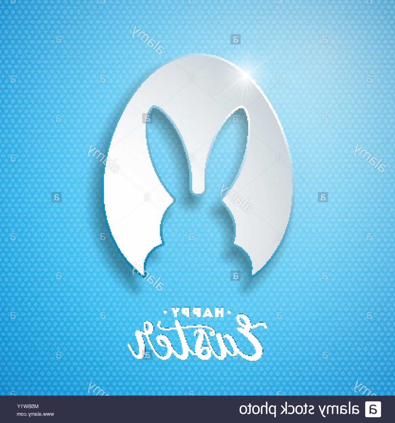 Vector RabbitEars: Stock Photo Vector Illustration Of Happy Easter Holiday With Rabbit Ears In Cutting