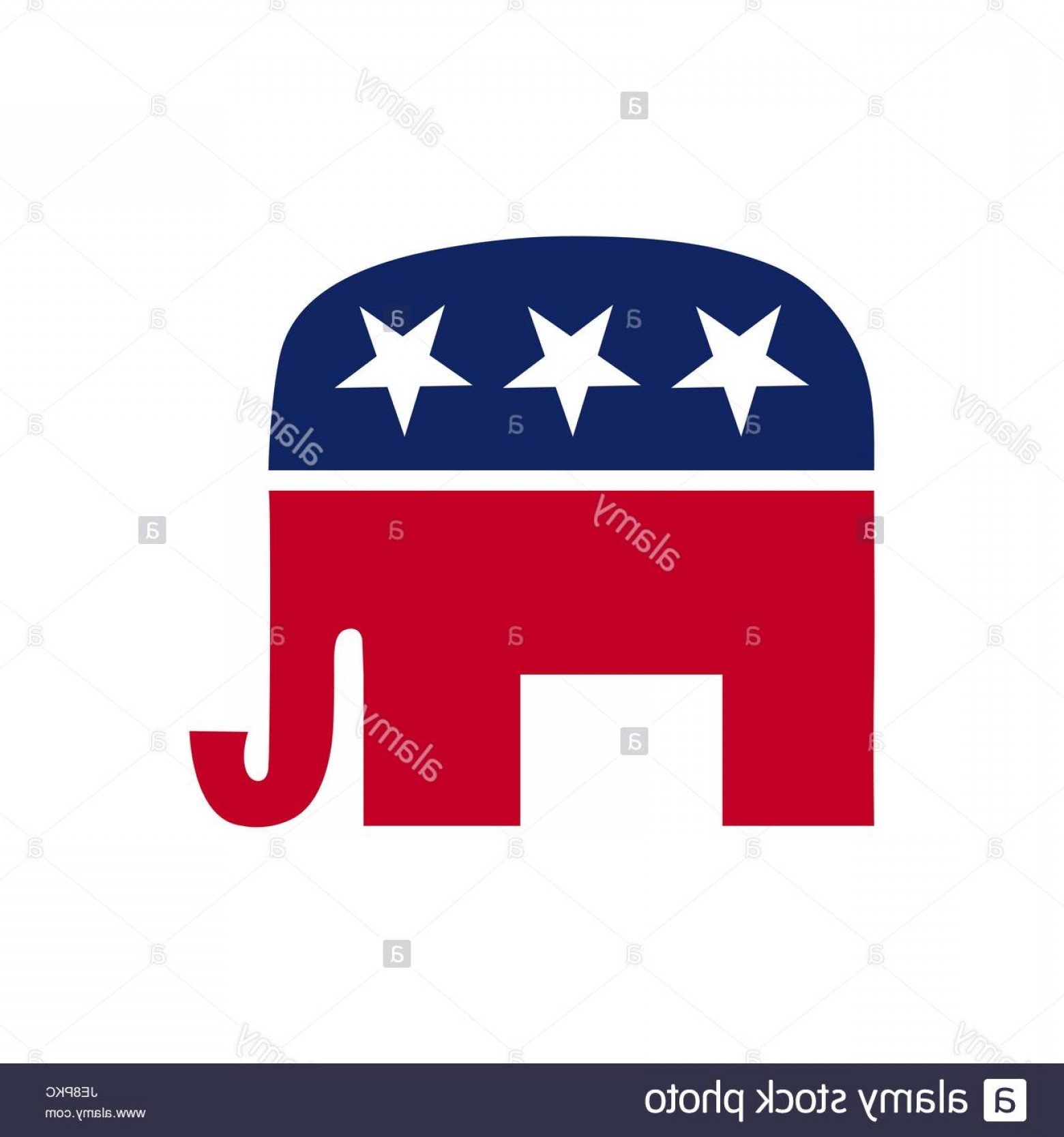 Republican Elephant Vector: Stock Photo Vector Illustration Of The Usa Republican Party Symbol The Elephant