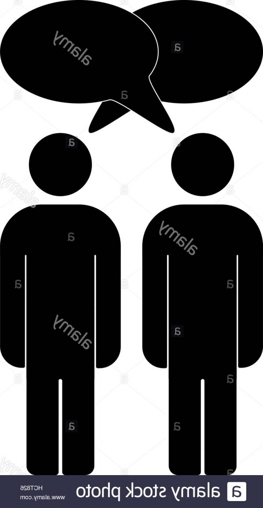 Two People Talking Vector Art: Stock Photo Vector Illustration Of Two People Talk Face To Face Communication