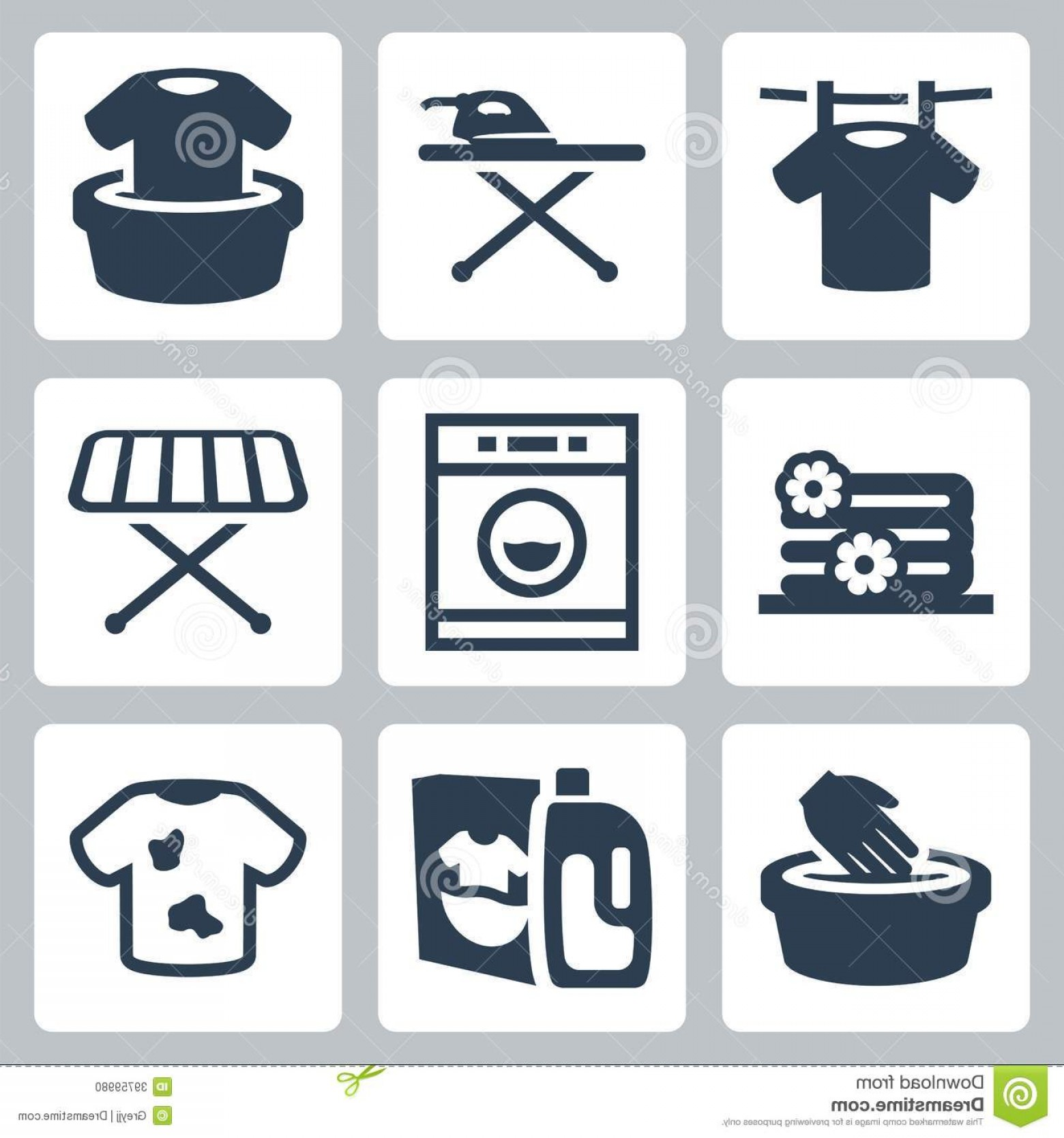 Clothes For Washing Vector: Stock Photo Vector Laundry Icons Set Isolated Image