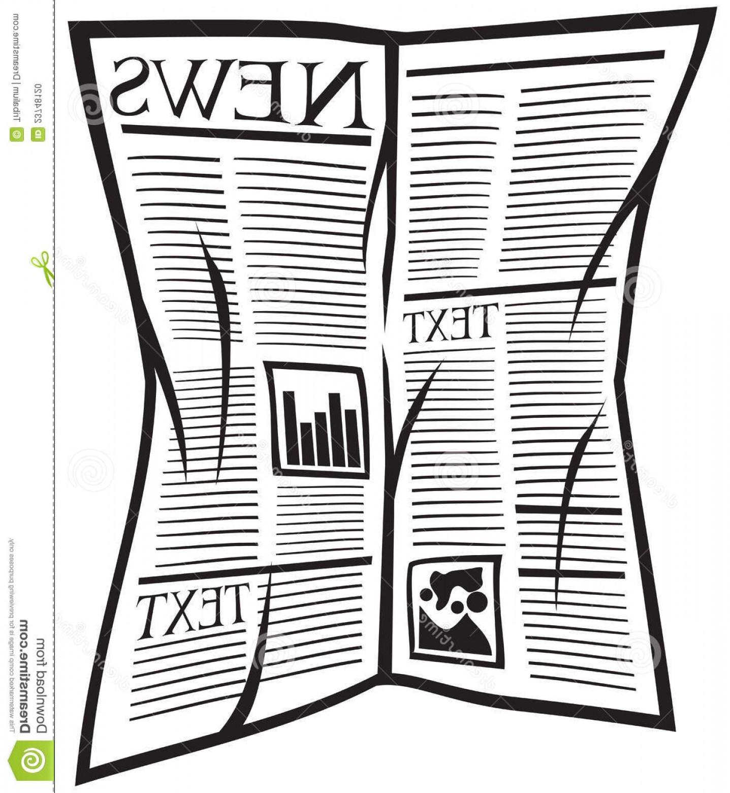 Newspaper Clip Art Vector: Stock Photo Vector Newspaper Icon Image