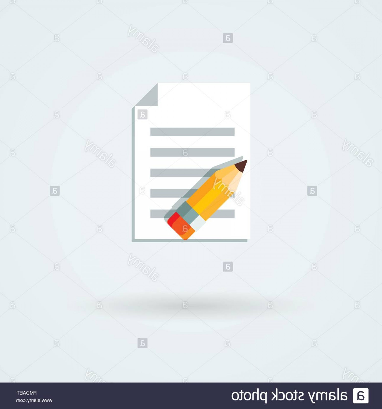 Paper And Pencil Icon Vector: Stock Photo Vector Paper And Pencil Icon