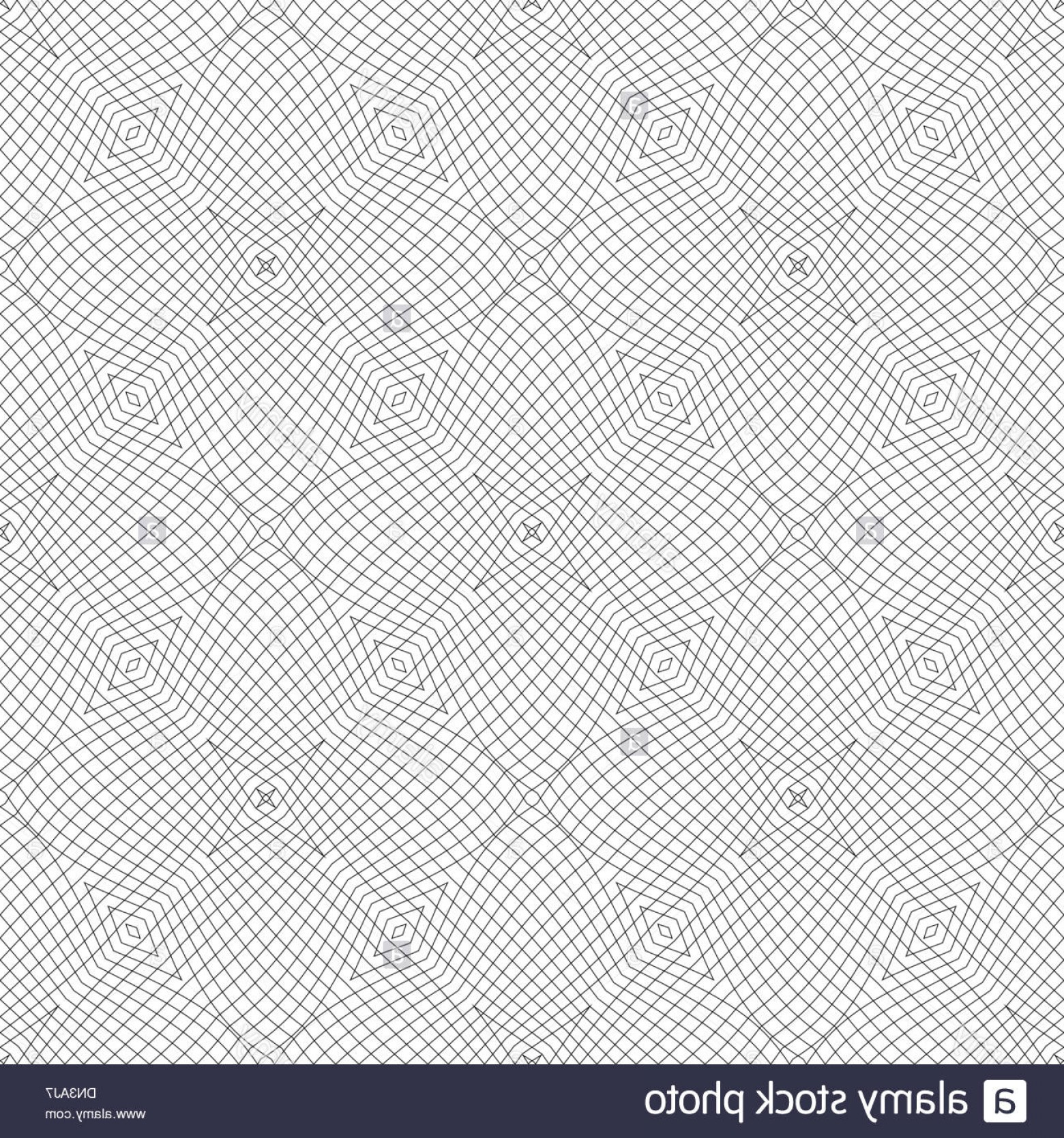 Security Vector Patterns: Stock Photo Vector Seamless Guilloche Background
