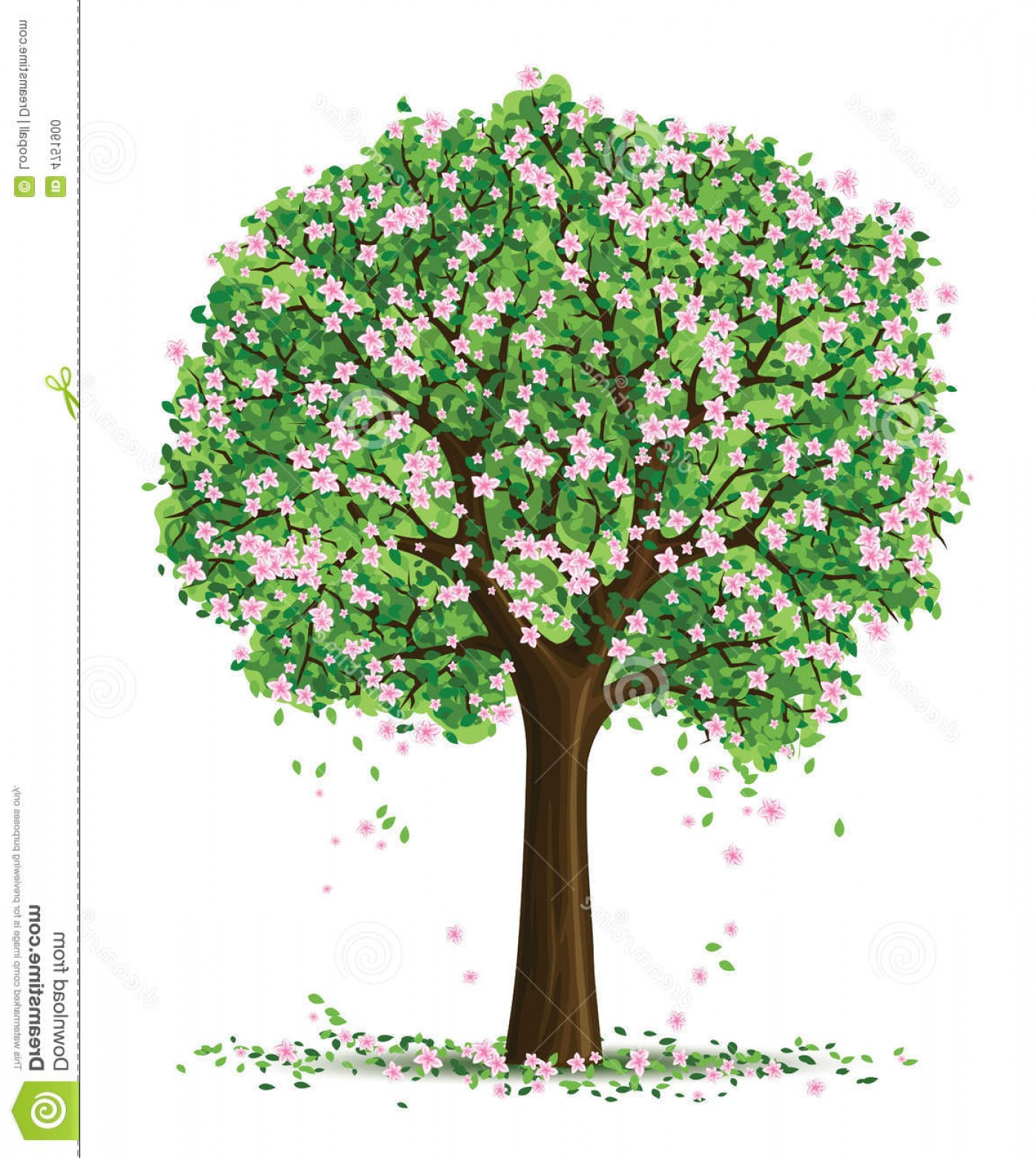Spring Vector Silhouette: Stock Photo Vector Silhouette Spring Tree Image