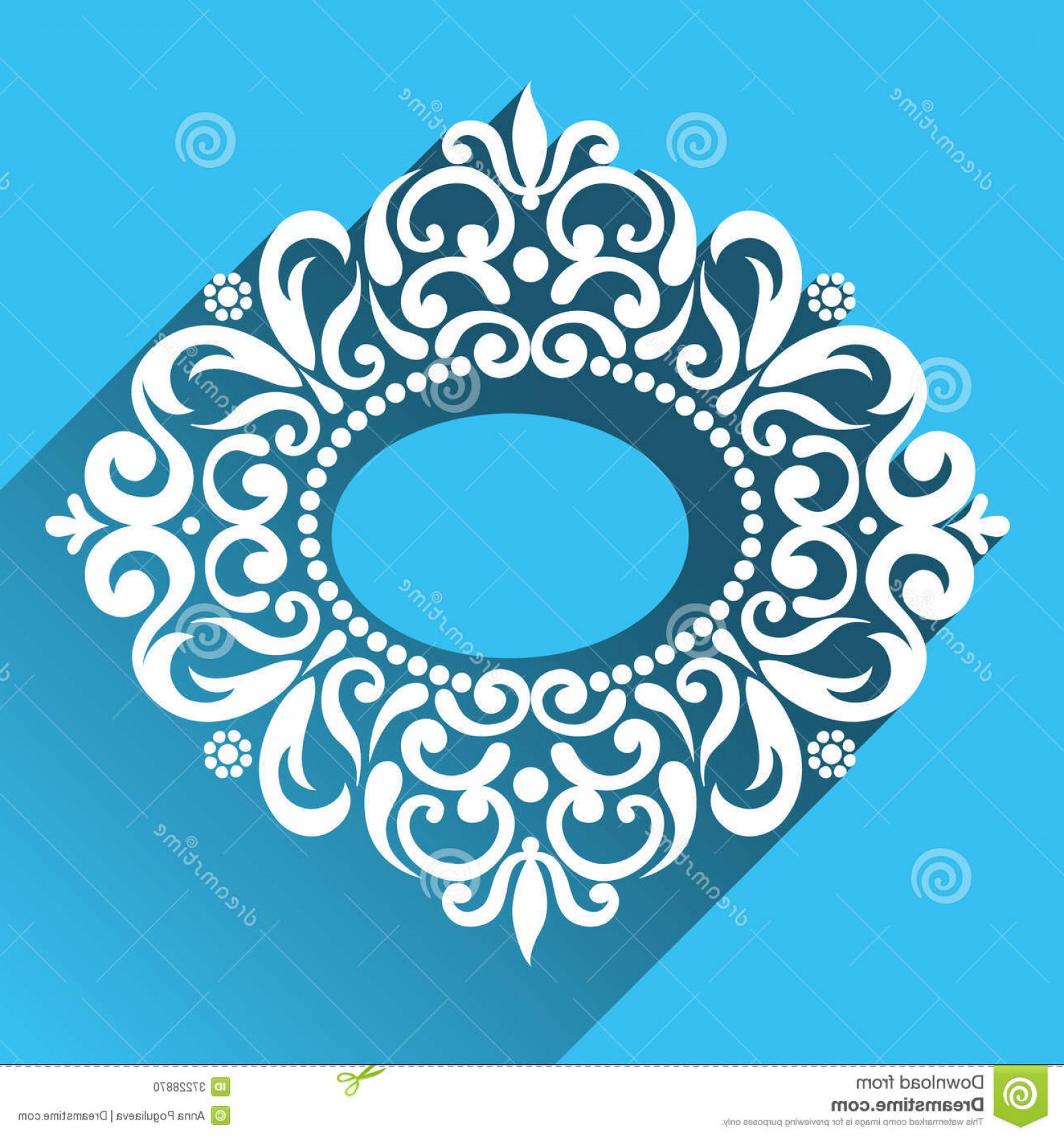 Aqua Victorian Vectors: Stock Photo Vector Victorian Ornamental Frame Flat Design Style Ornate Element Toolkit Designer Can Be Used Decorating Image