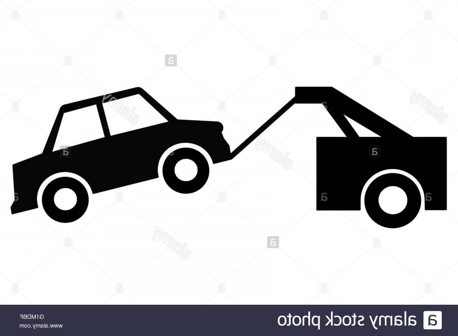 Towing Vector Clip Art: Stock Photo Vehicle Or Car Towing Sign Or Illustration As Clip Art