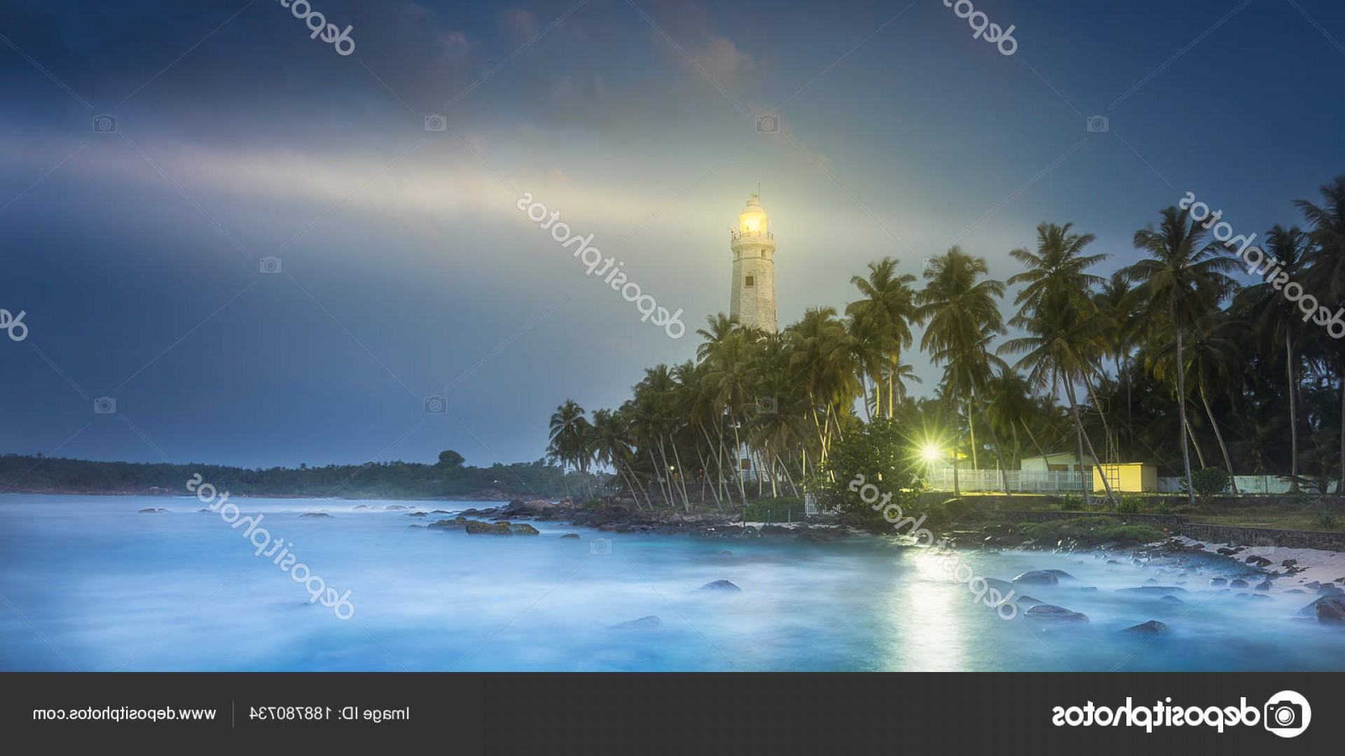Jupiter Lighthouse Vector: Stock Photo View Of Lighthouse Dondra Matara