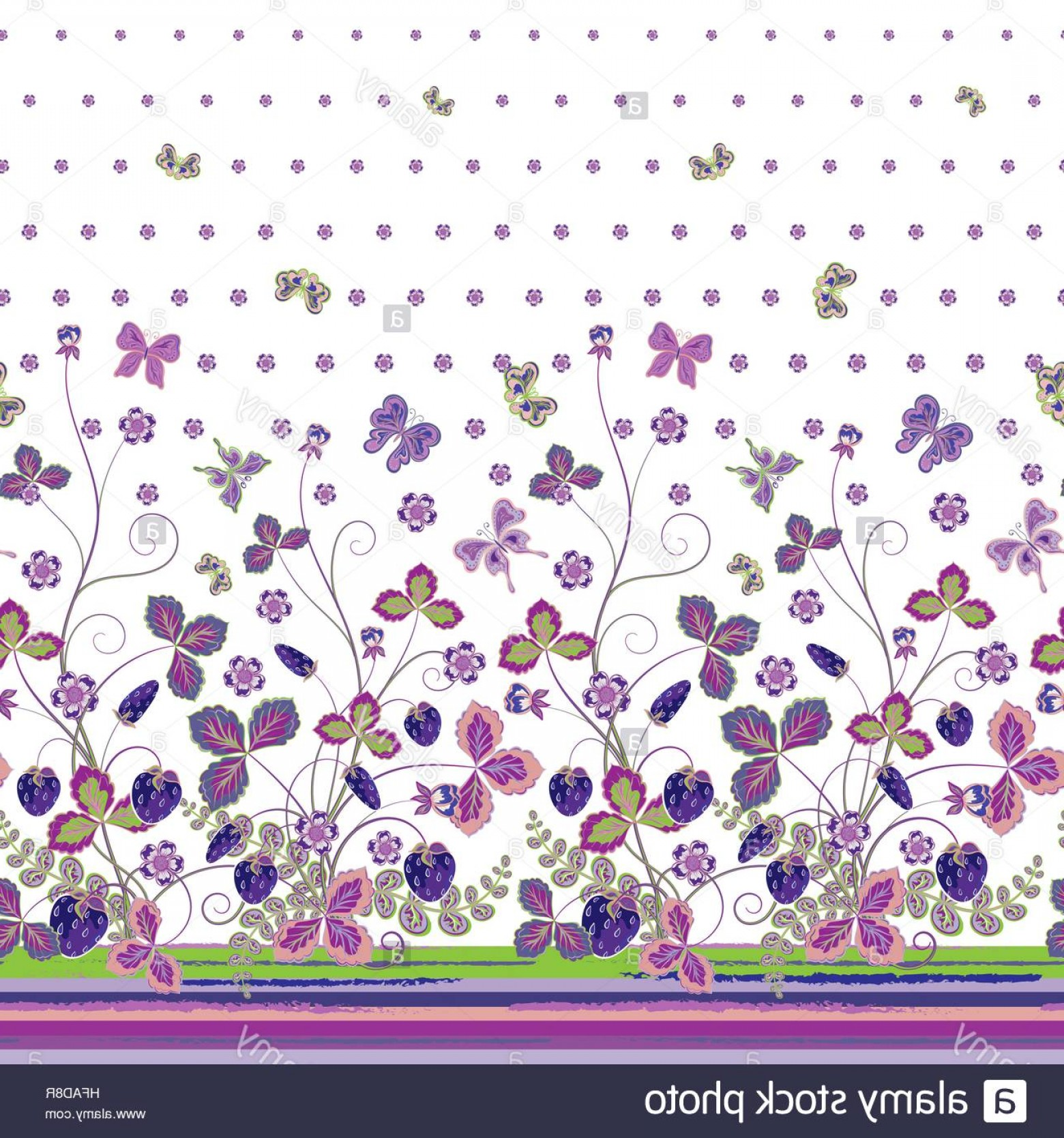 Purple Butterfly Wallpaper Vector: Stock Photo Vintage Berries Leaves Fruit Moth Butterfly Wallpaper Vertical Seamless