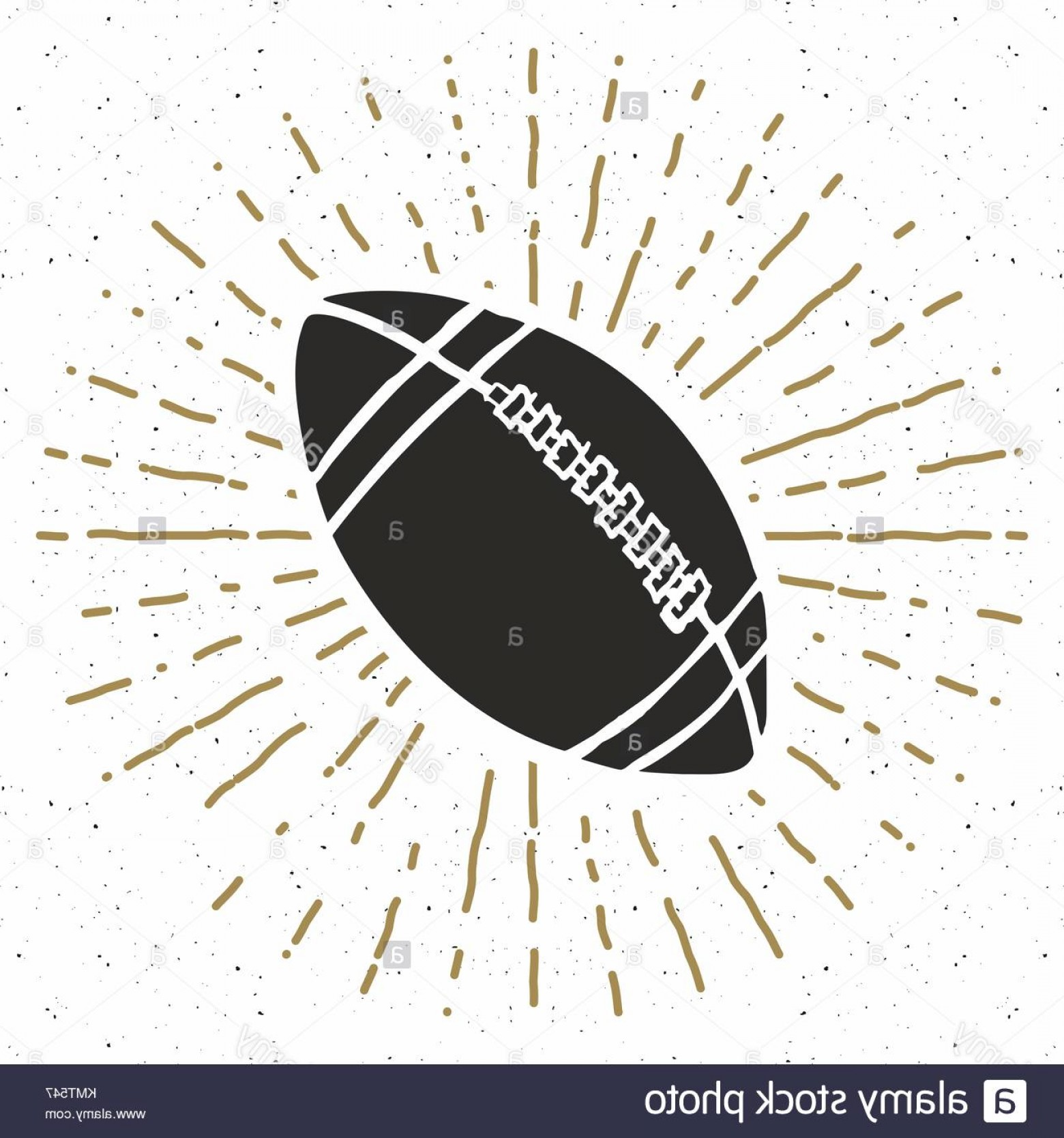 Vector Football Laces And Lines: Stock Photo Vintage Label Hand Drawn Football Soccer Ball Sketch Grunge Textured