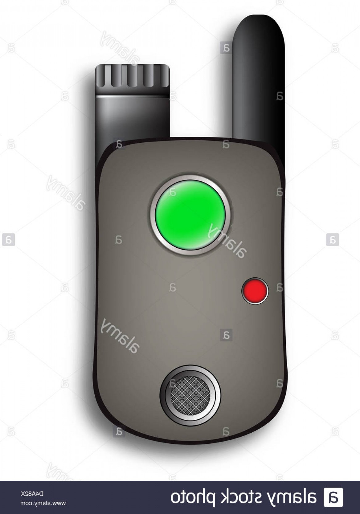Xbox 360 Vector: Stock Photo Walkie Talkie Against White Background Vector Art Illustration Image