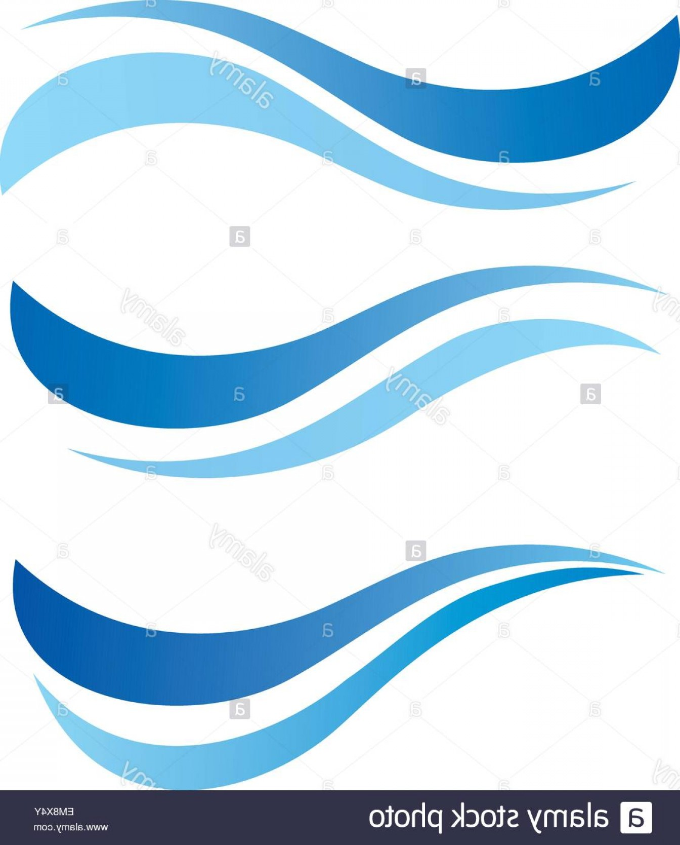 Water Flow Vector: Stock Photo Water Waves Design Elements Vector Set