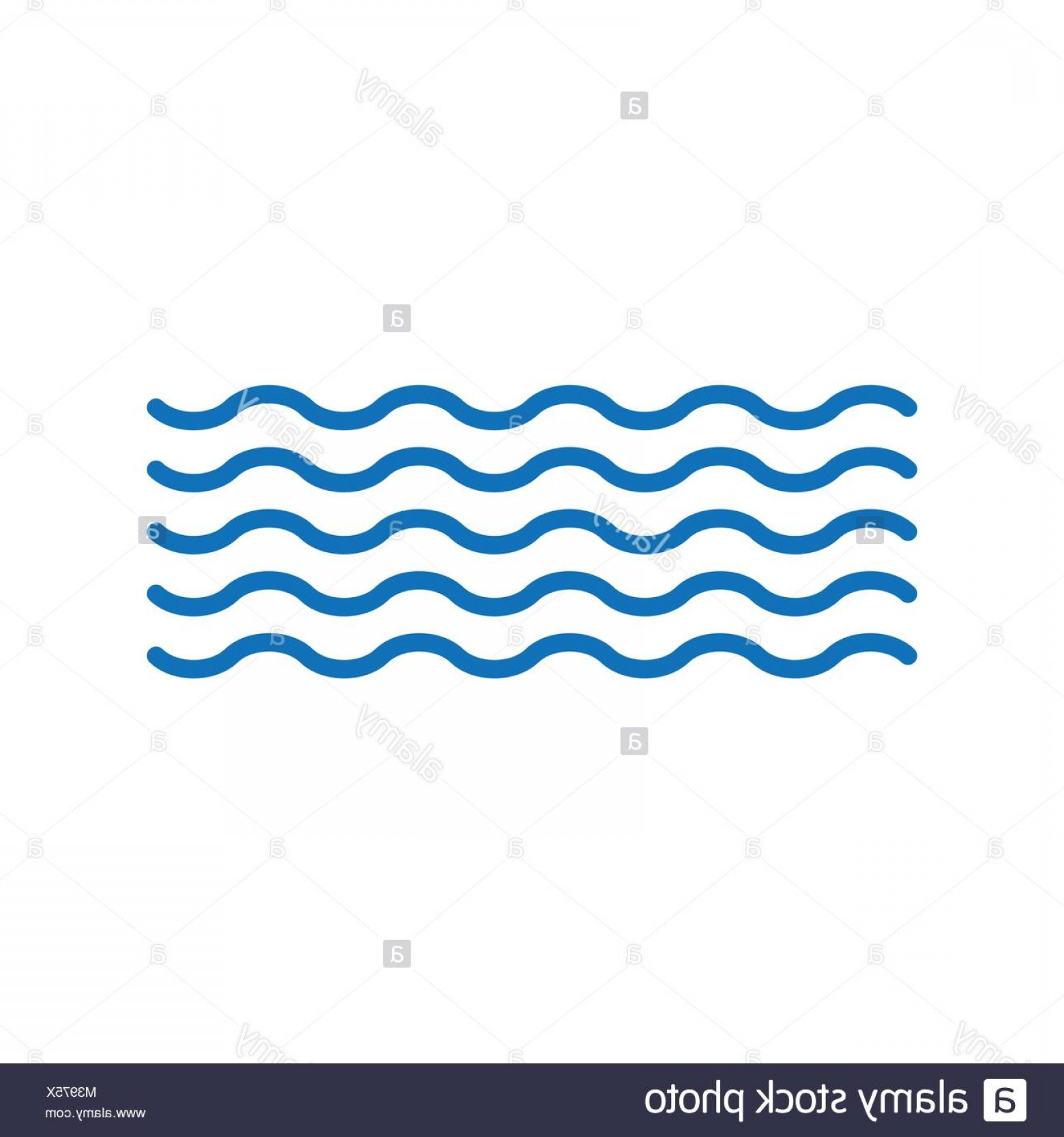 Vave Vector: Stock Photo Waves Vector Icon