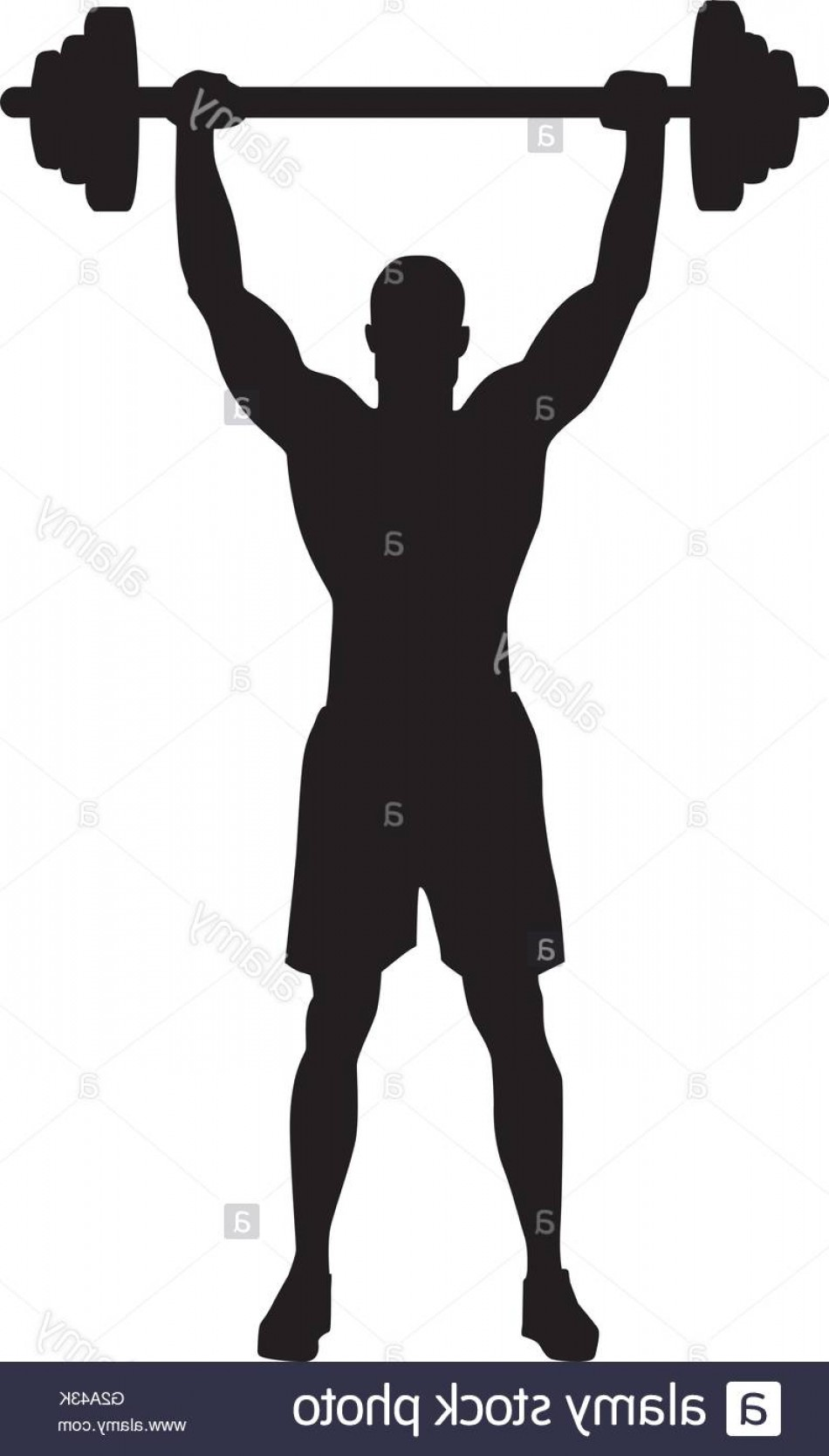 Vector Weight Lifting: Stock Photo Weight Lifting Bodybuilder Silhouette
