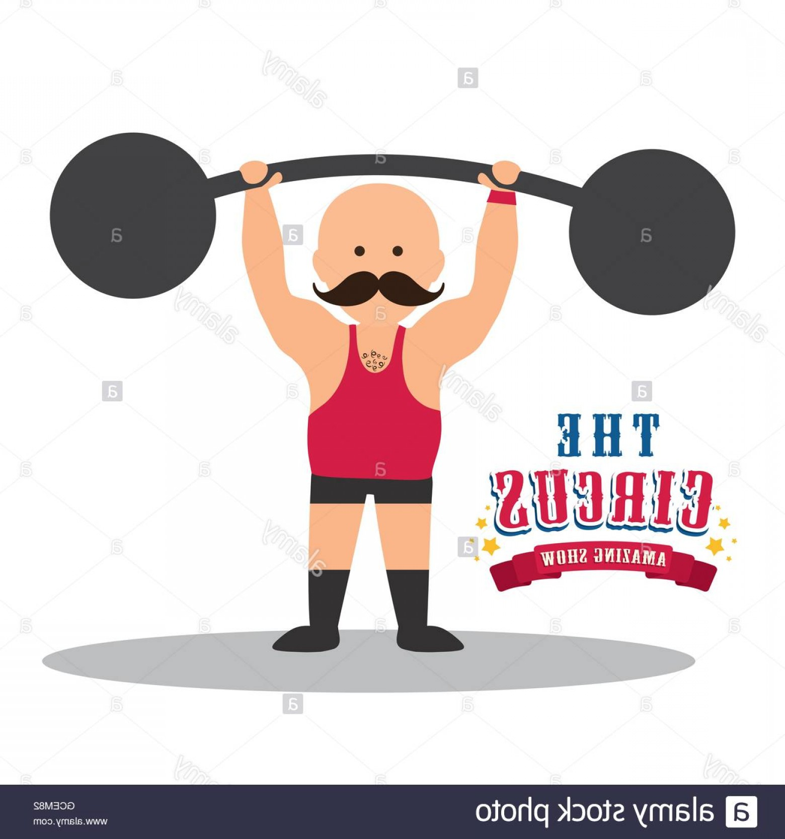 Weightlifter Vector Art: Stock Photo Weight Lifting Icon Circus And Carnival Design Vector Graphic