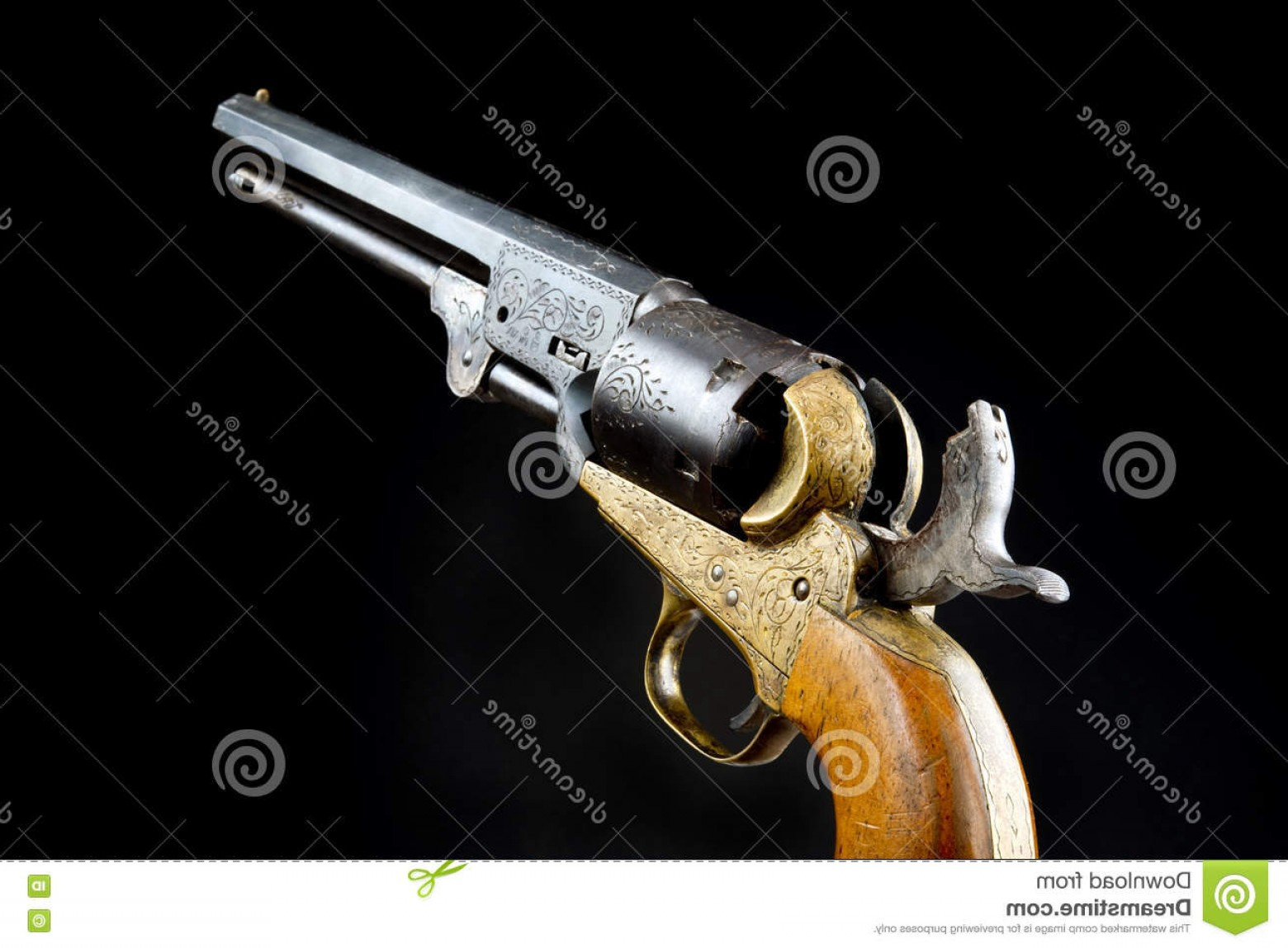 Vector Oyster Shooter: Stock Photo Western Six Shooter Gun Won West Image