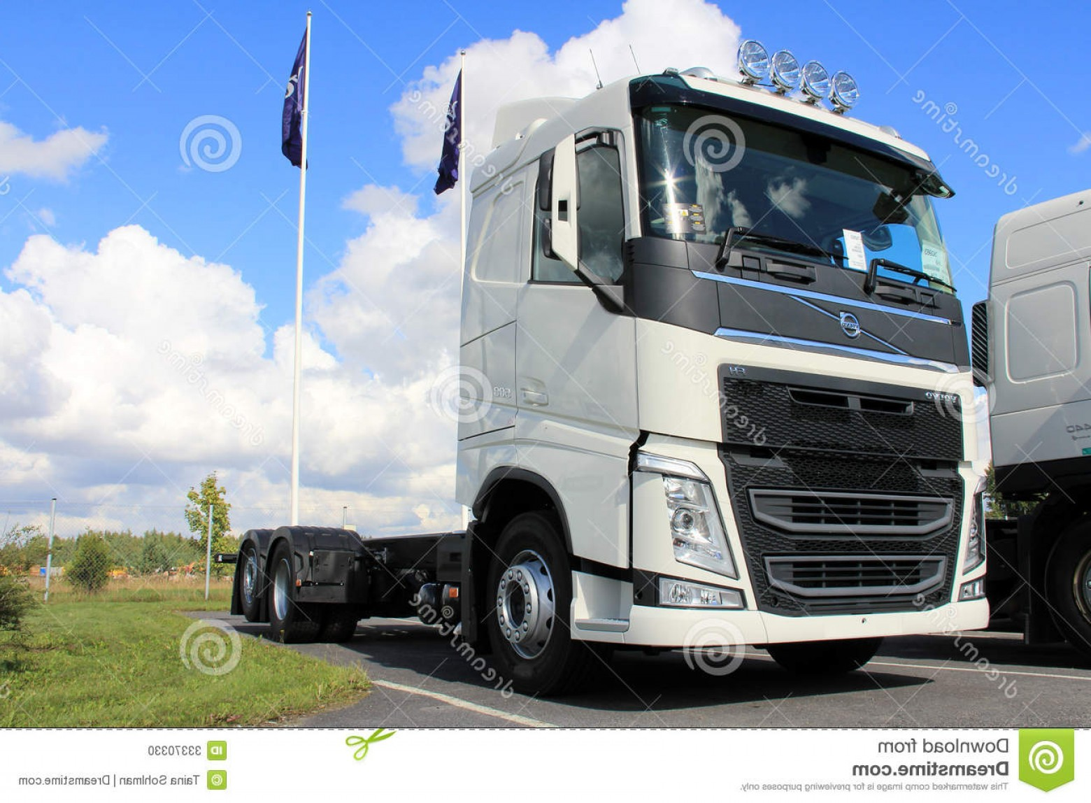Volvo FH Vector: Stock Photo White New Volvo Fh Truck Lieto Finland August August Lieto Finland Trucks Range Goes Public Display First Time Image