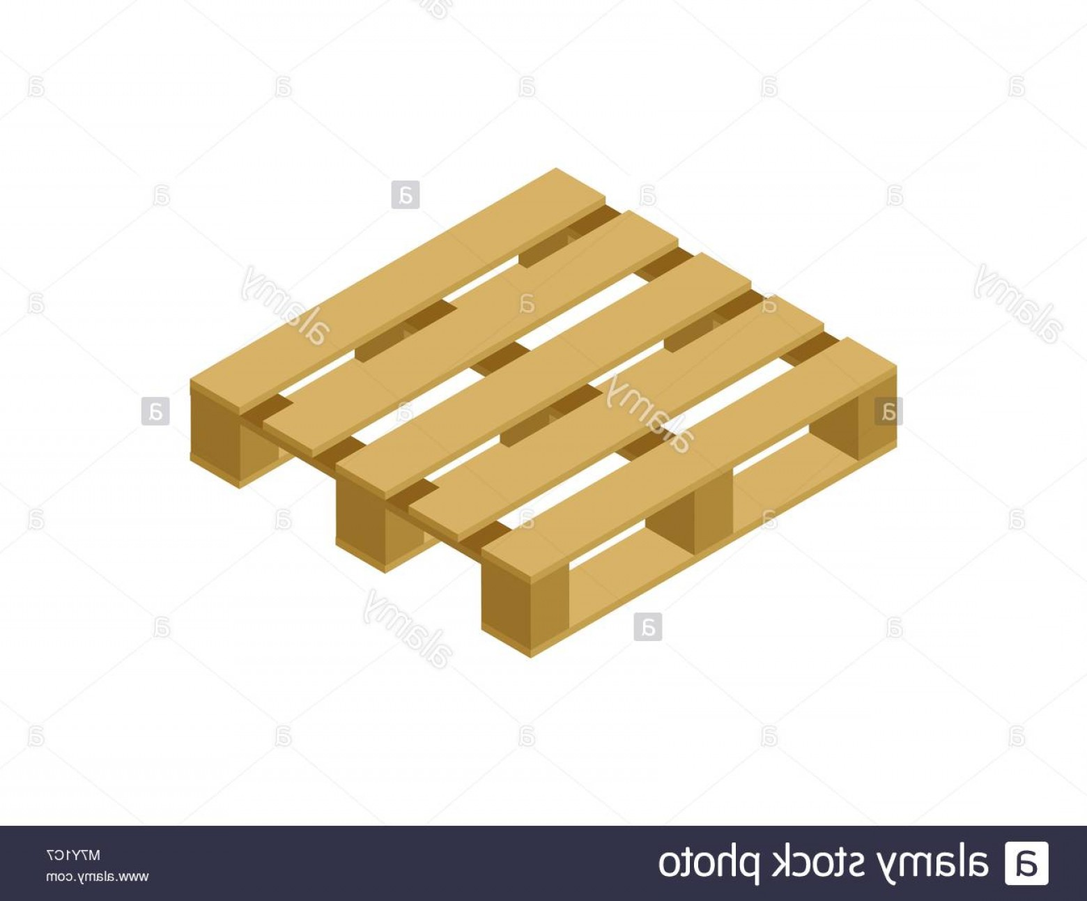 Pallet Vector Graphic: Stock Photo Wooden Pallet Isometric D Icon